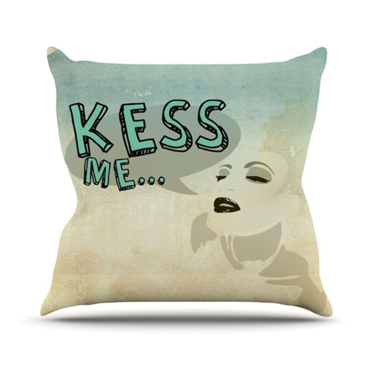 Kess Me Throw Pillow Size: 26