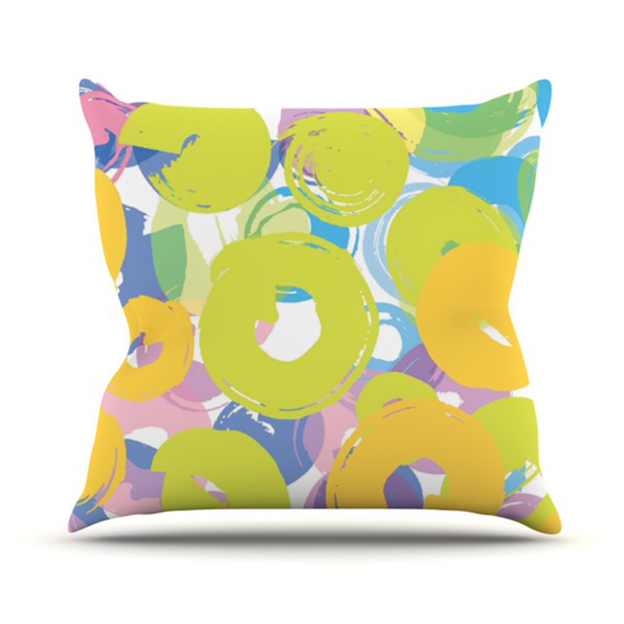 Circle Me Throw Pillow Size: 26