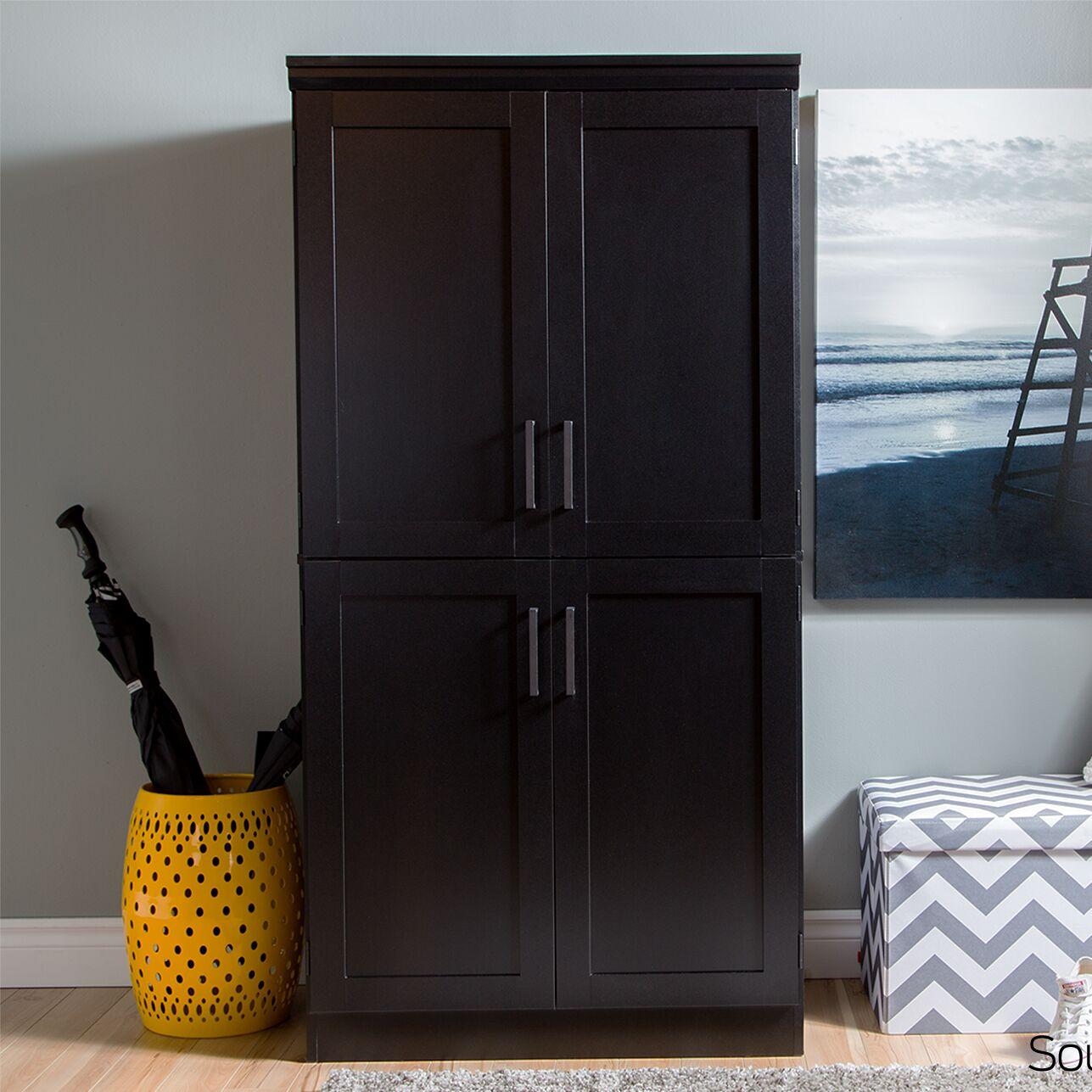 Preciado Rustic Wardrobe Armoire Color: Pure Black