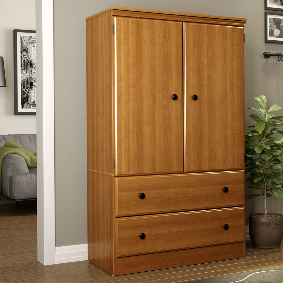 Caines Traditional Armoire Finish: Morgan Cherry