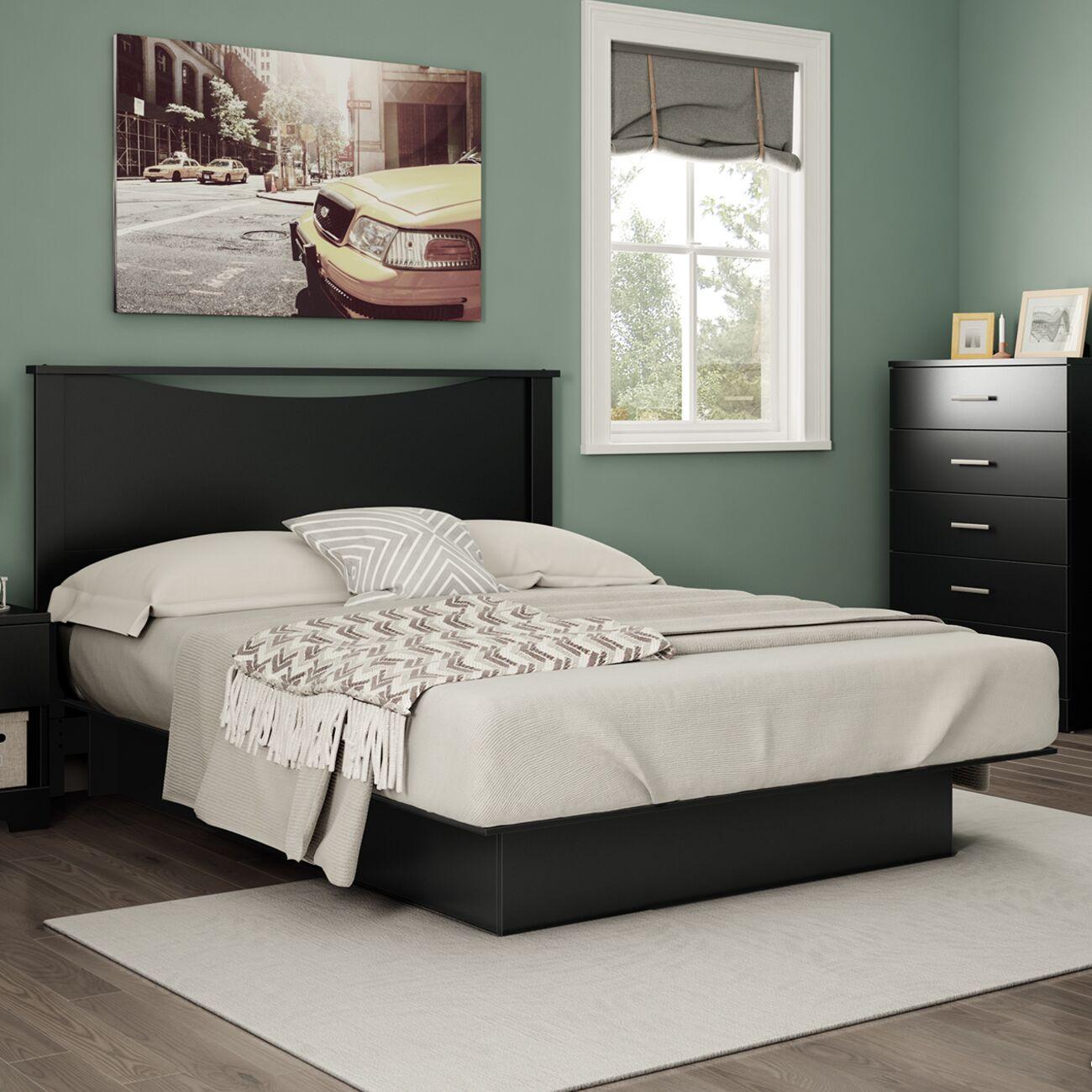 Gramercy Queen Storage Platform Bed Color: Black