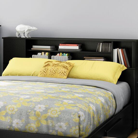 Fusion Bookcase Headboard Color: Black