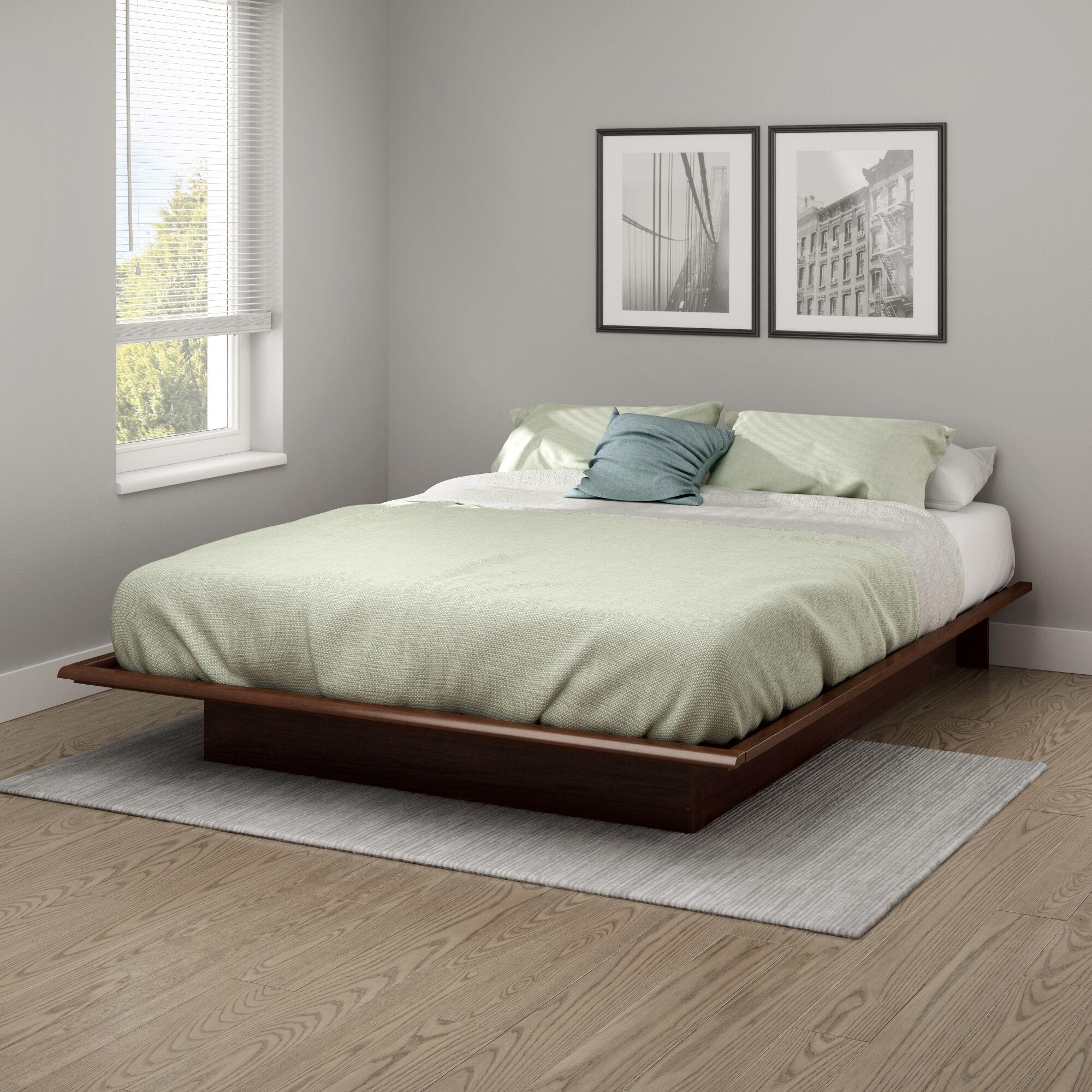 Step One Platform Bed Size: Queen, Color: Sumptuous Cherry