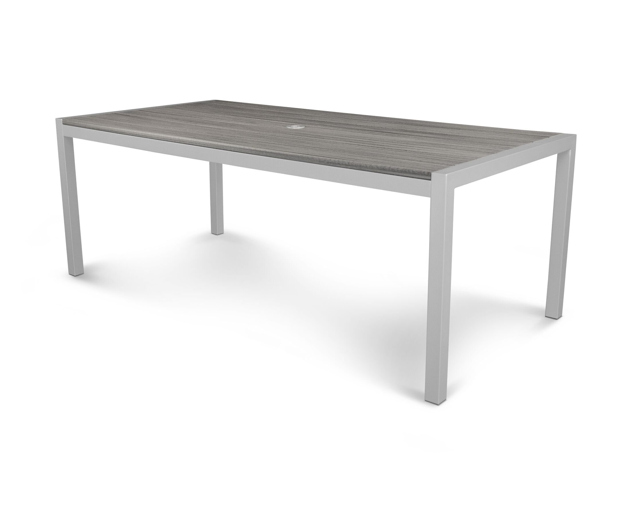 Parsons Dining Table Finish: Satin Silver / Island Mist