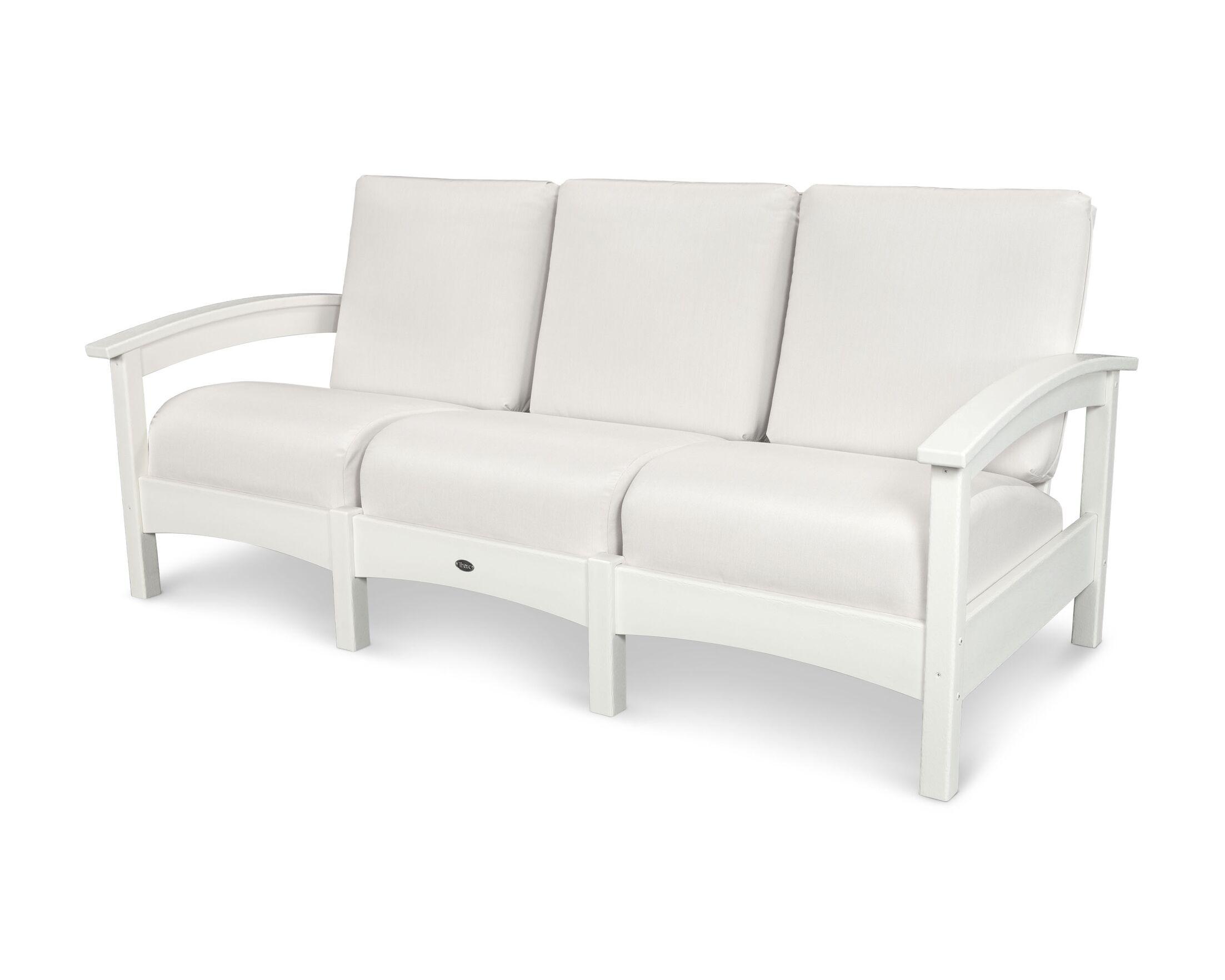 Rockport Club Sofa Color: Classic White / Bird's Eye