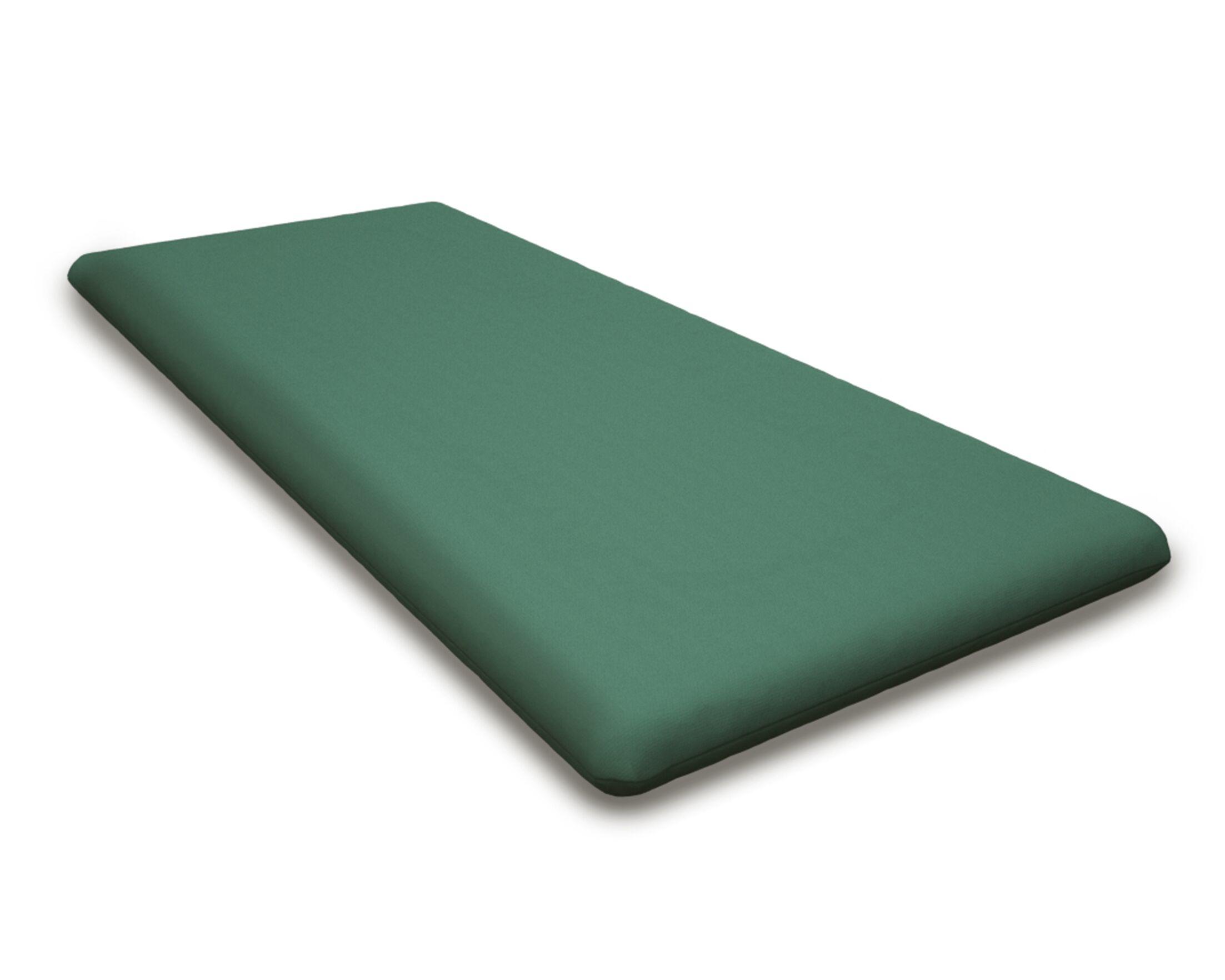 Seat Cushion Fabric: Spa, Size: 55.5
