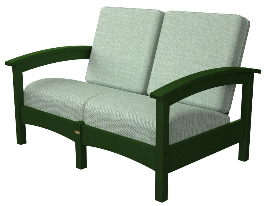Rockport Club Deep Seating Sofa with Cushions Color: Rainforest Canopy / Spa
