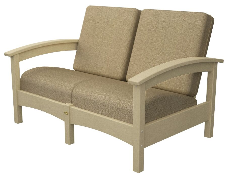 Rockport Club Deep Seating Sofa with Cushions Color: Sand Castle / Sesame