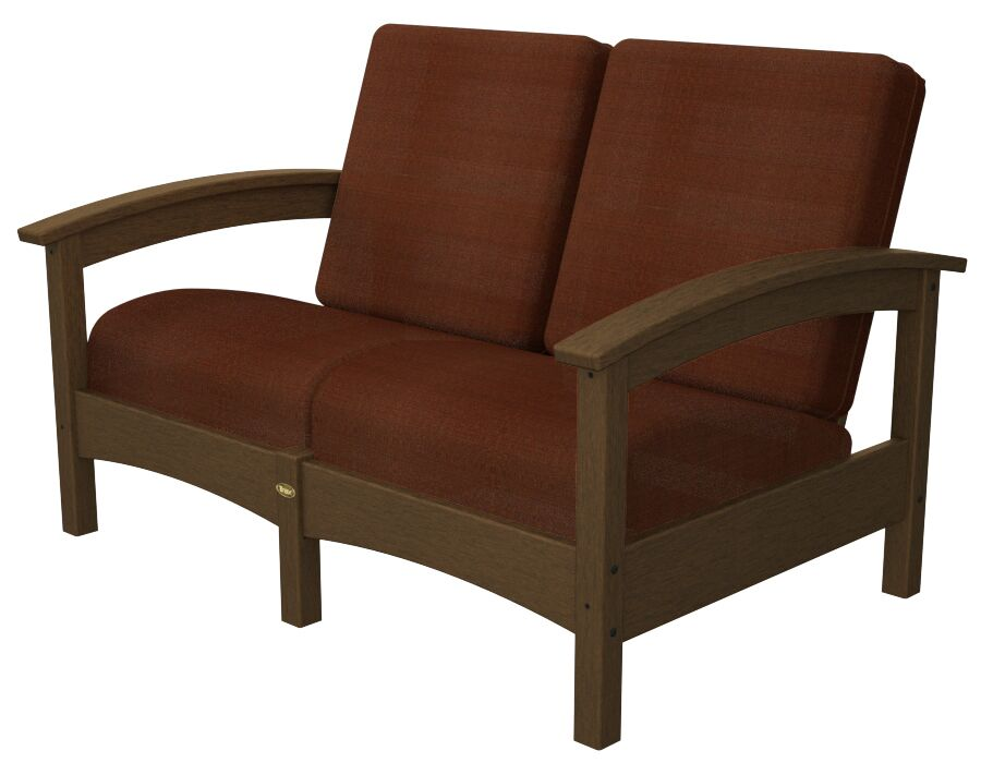 Rockport Club Deep Seating Sofa with Cushions Color: Tree House / Chili