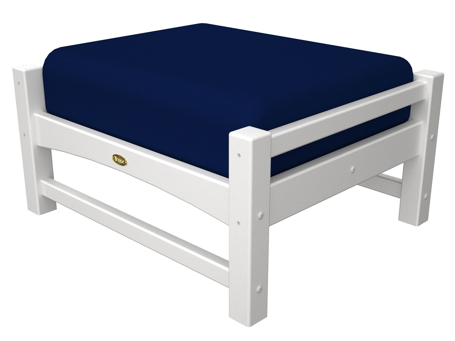 Rockport Club Ottoman Color: Classic White / Navy