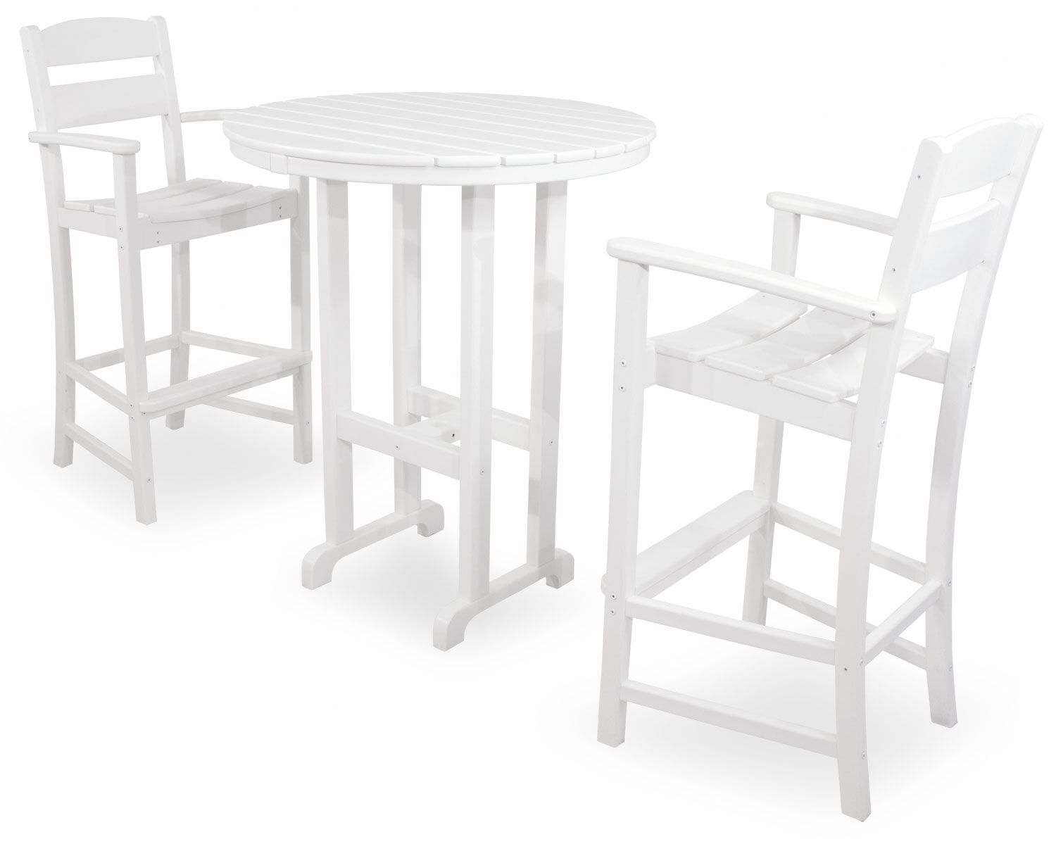 Classics 3 Piece Bar Height Dining Set Color: White
