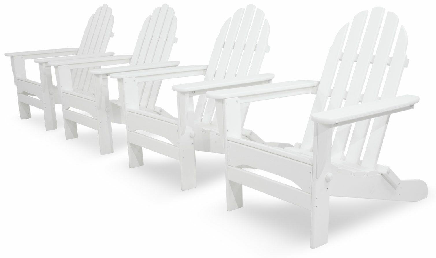 4 Piece Conversation Set Color: White