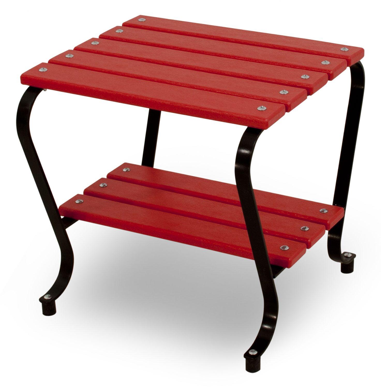 Vintage Side Table Finish: Black/Sunset Red