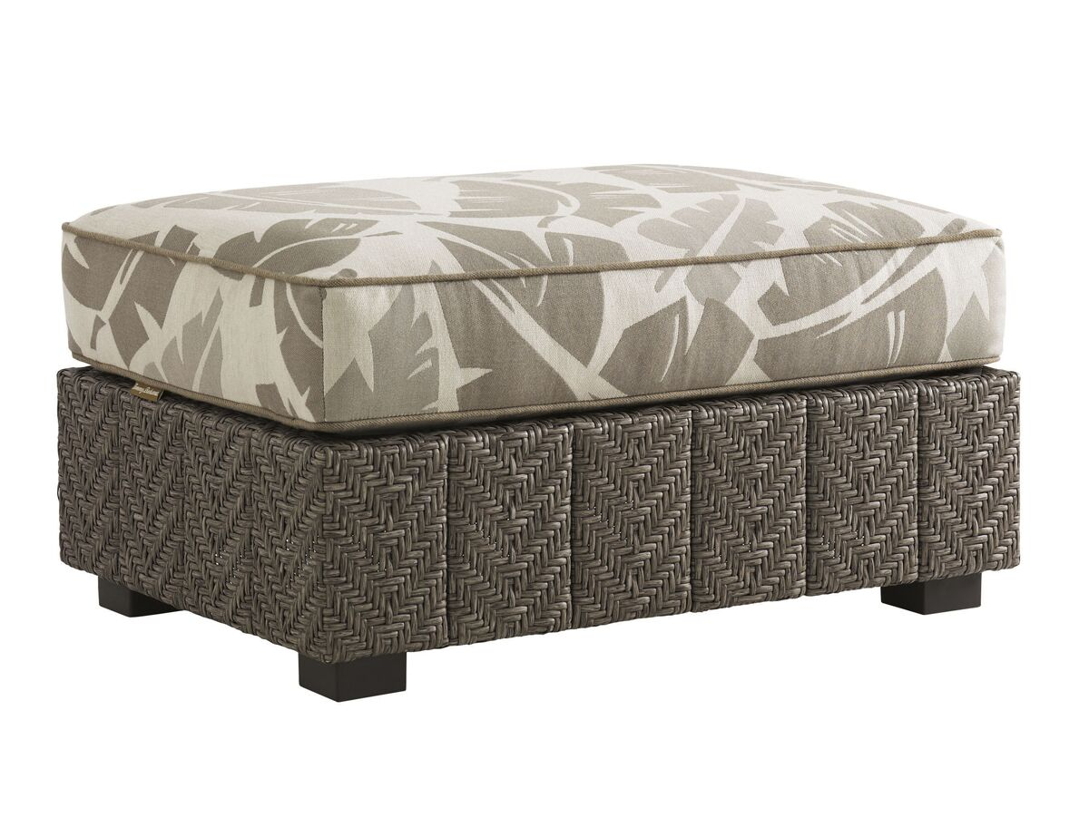 Olive Outdoor Ottoman with Cushion