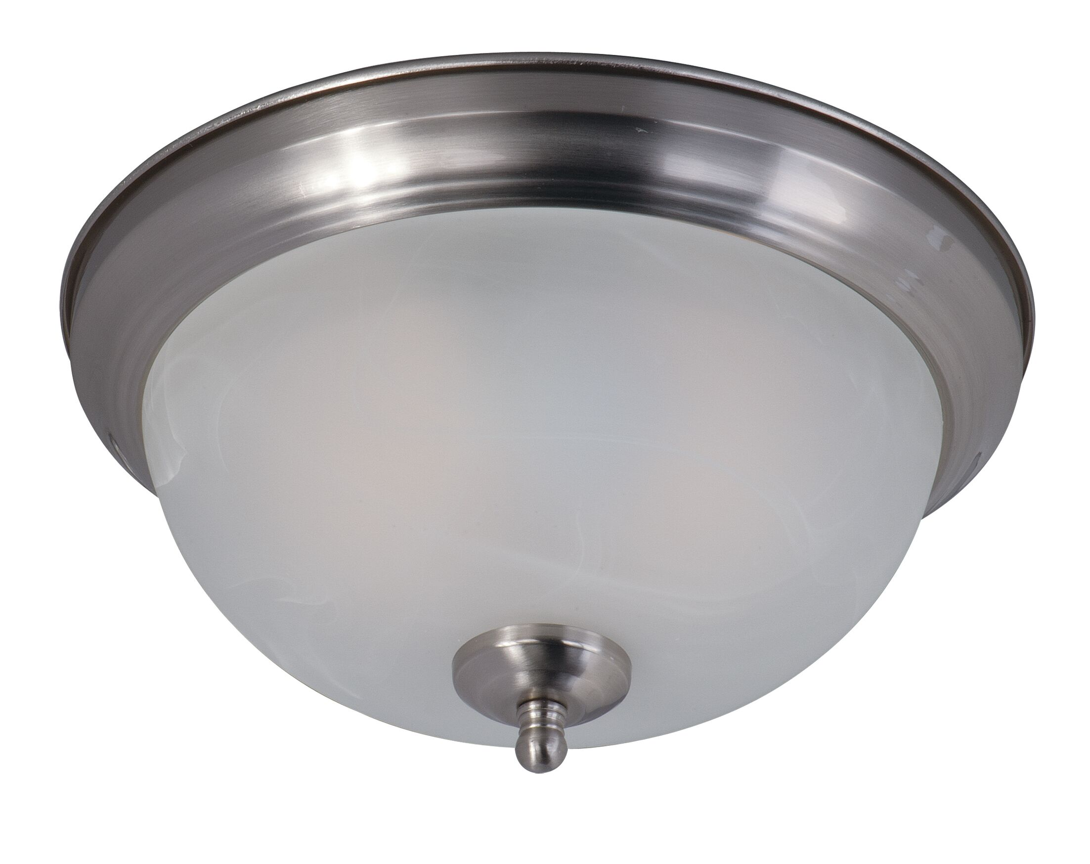 Camargo 2-Light Flush Mount Shade Color: Marble