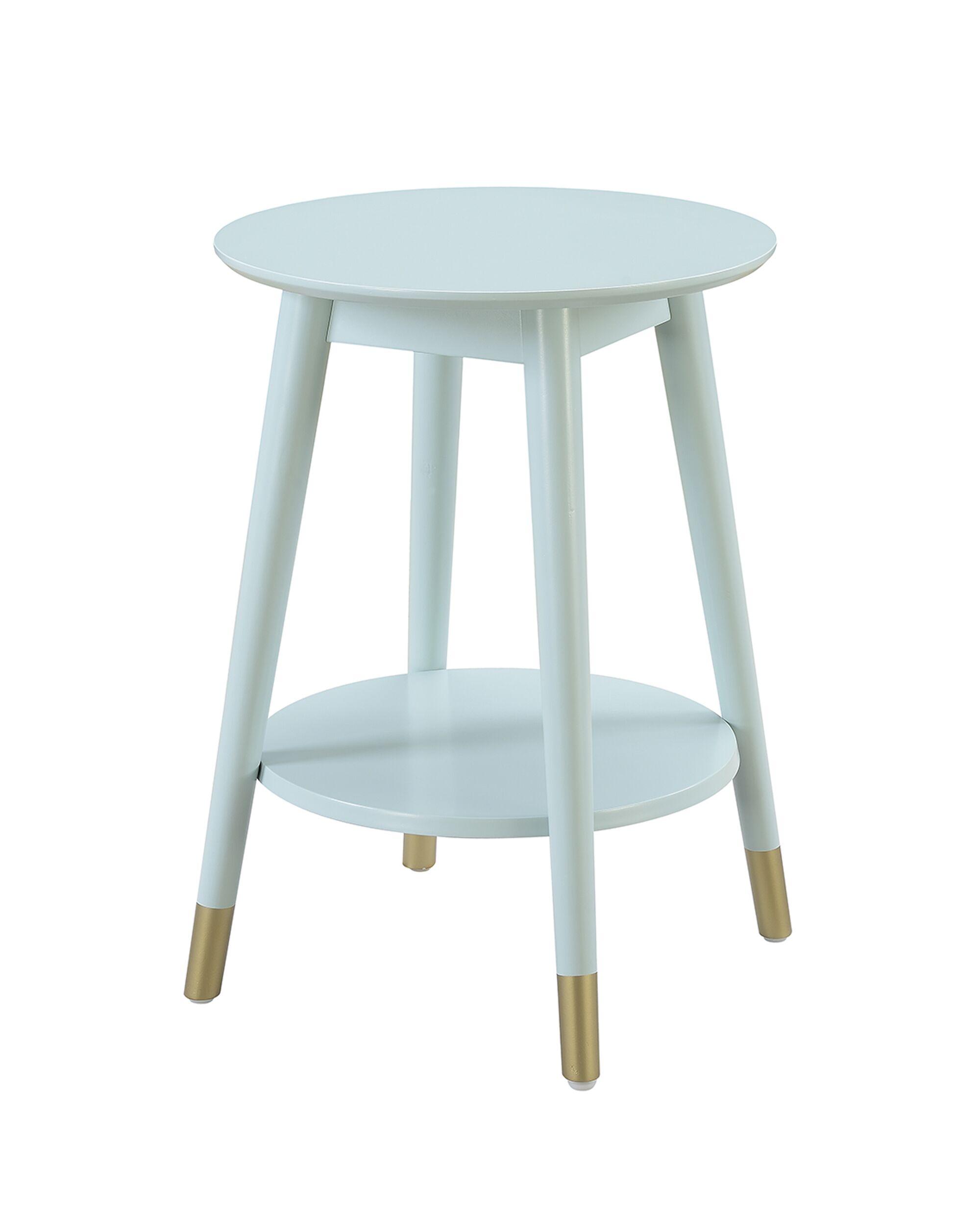 Boese End Table Color: Sea Foam