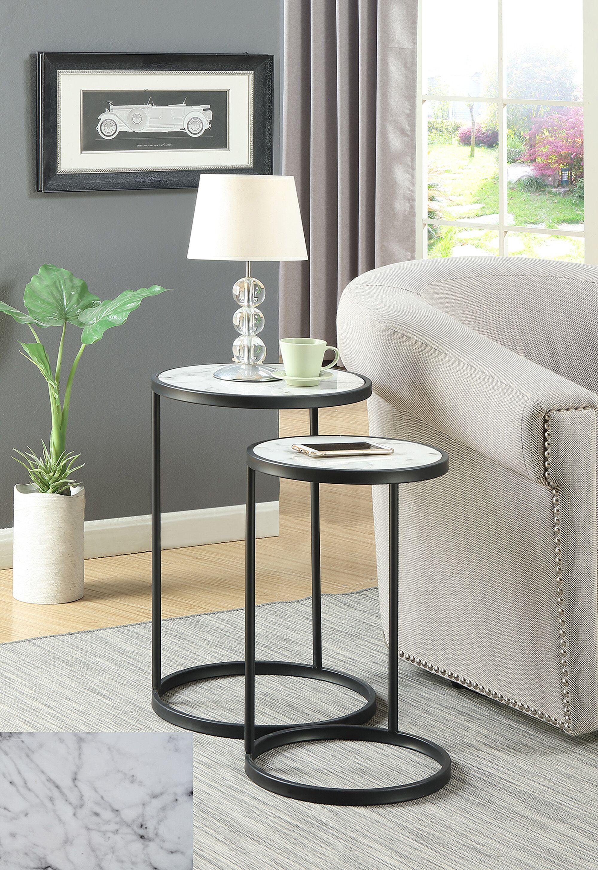 Claybrooks Nesting Tables Color: Black
