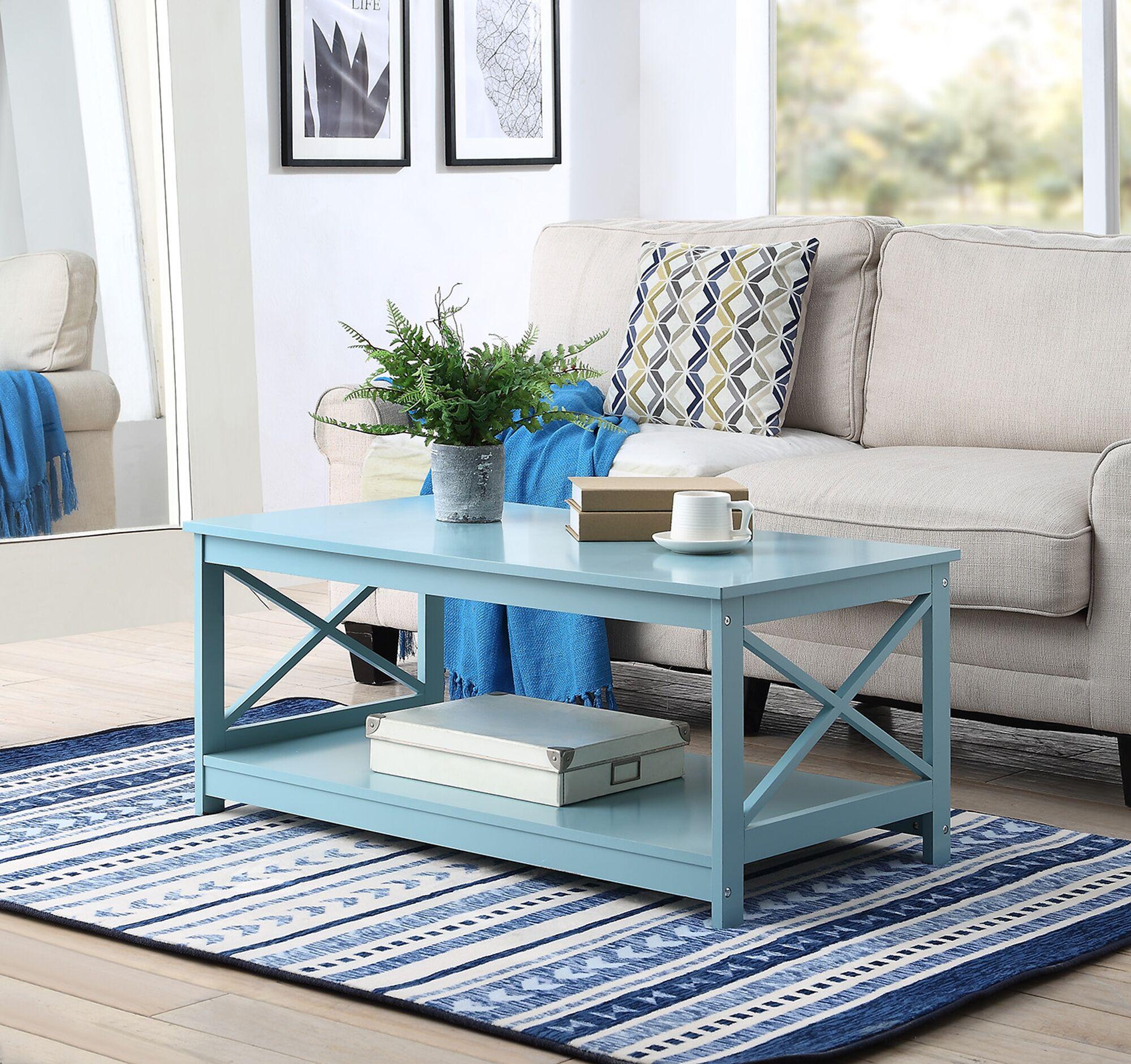 Stoneford Coffee Table Color: Sea Foam