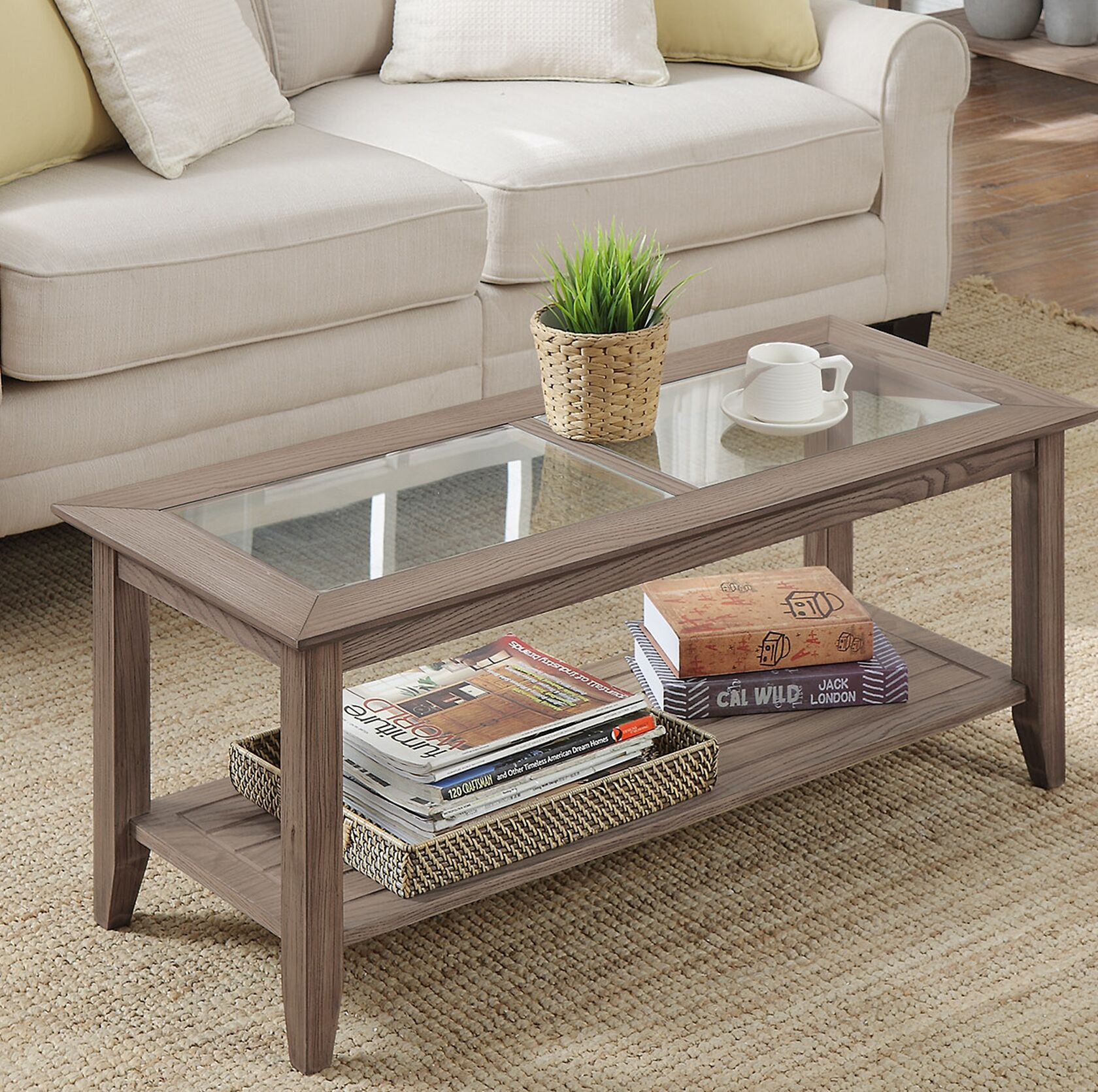 Melrose Coffee Table Table Base Color: Driftwood