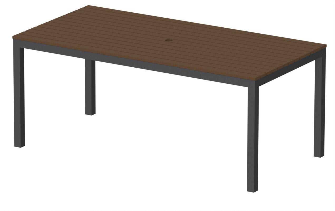Loft Outdoor Dining Table Finish: Textured Black