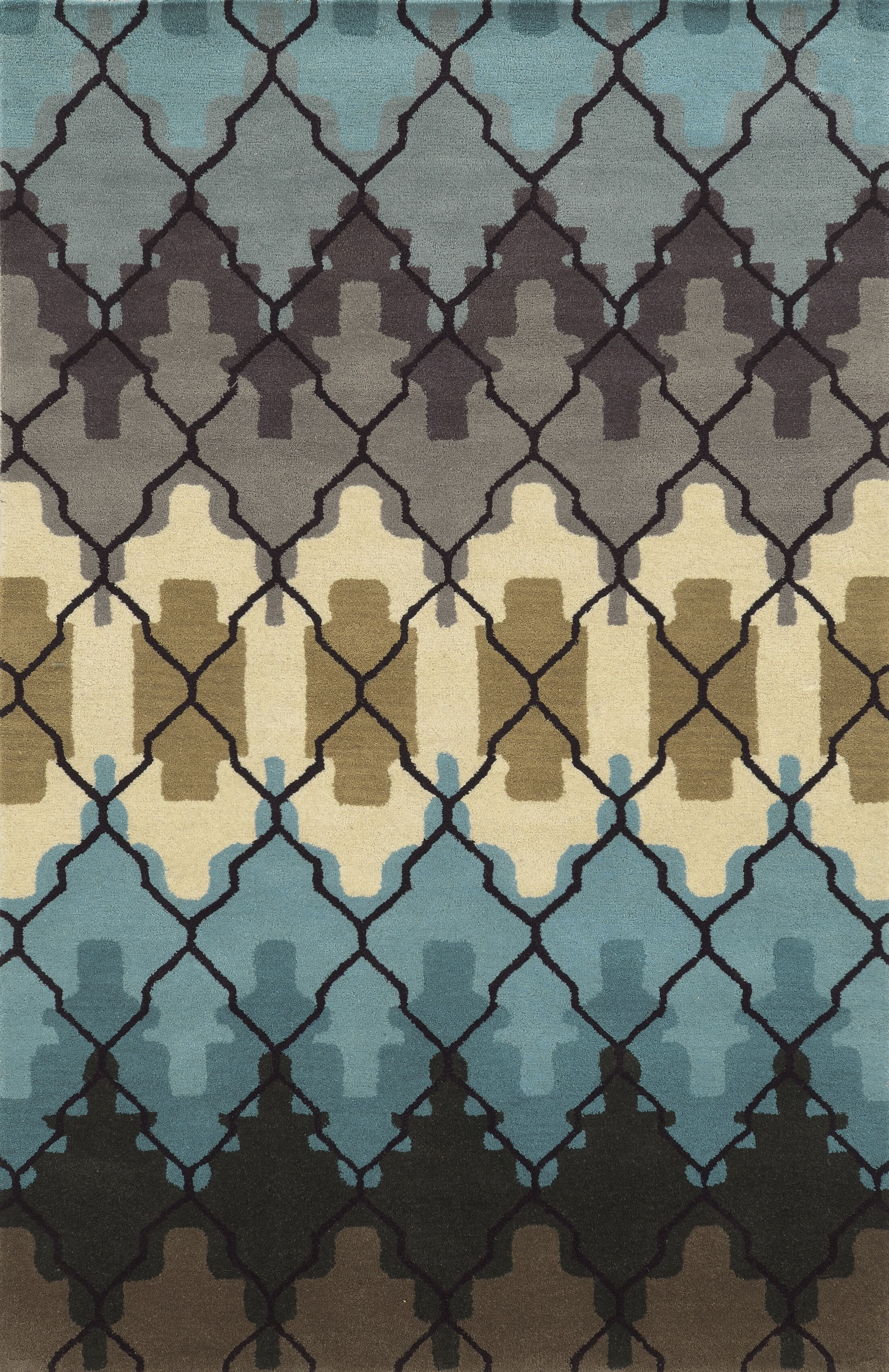 Peter Hand-Tufted Area Rug Rug Size: Rectangle 5' x 8'
