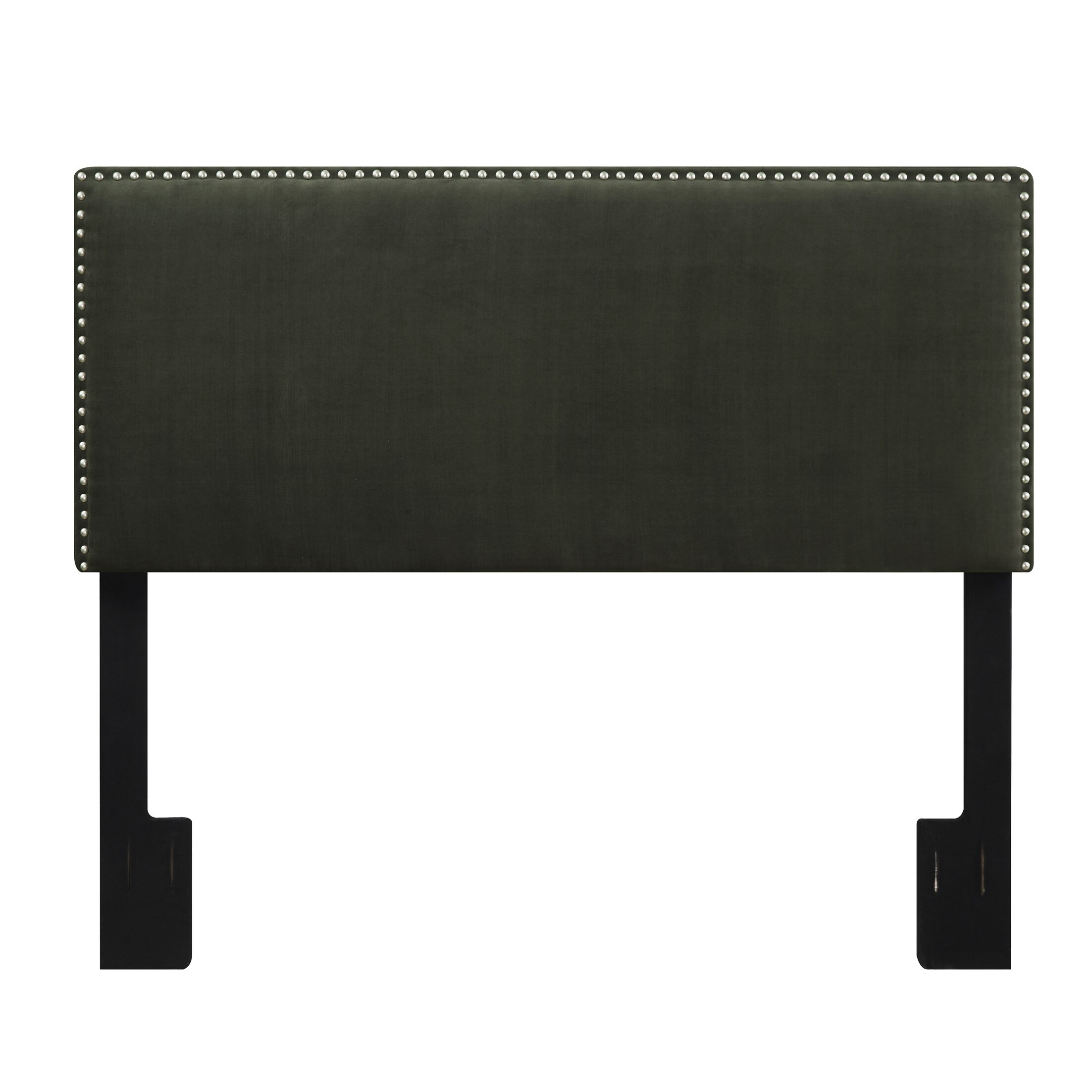 Lambert Upholstered Panel Headboard Color: Gray