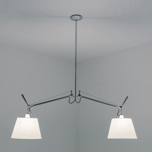 Tolomeo with Shade Double Suspension Ceiling Light Shade Size/Color: Extra Large - 17