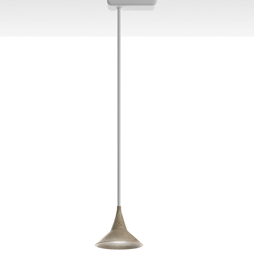 Unterlinden 1-Light Cone Pendant Color Temperature: 3000K, Finish: Bronze/White