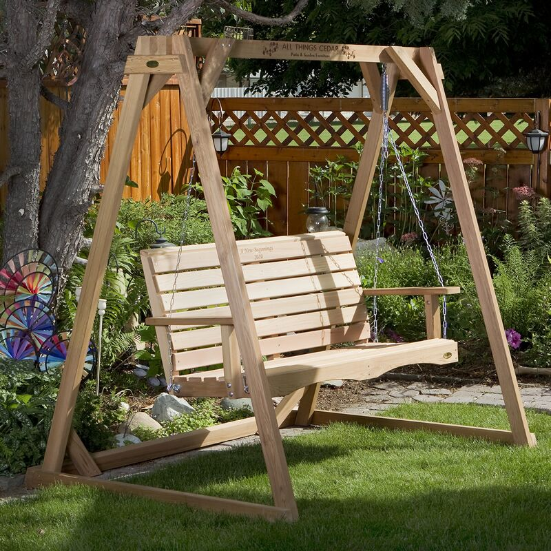 Porch Swing with Stand Size: 48