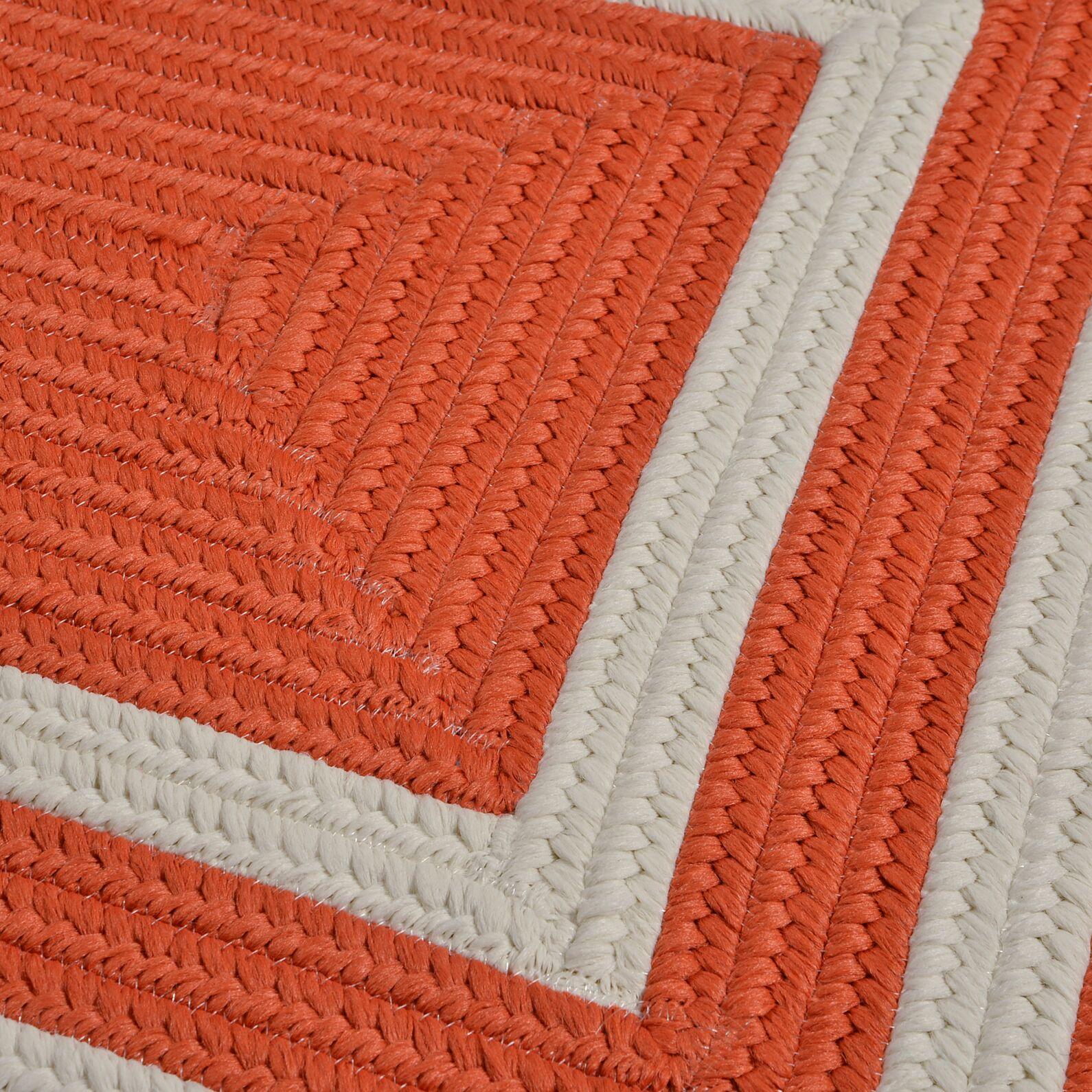 Marti Hand-Woven Outdoor Orange Area Rug Rug Size: Square 6'