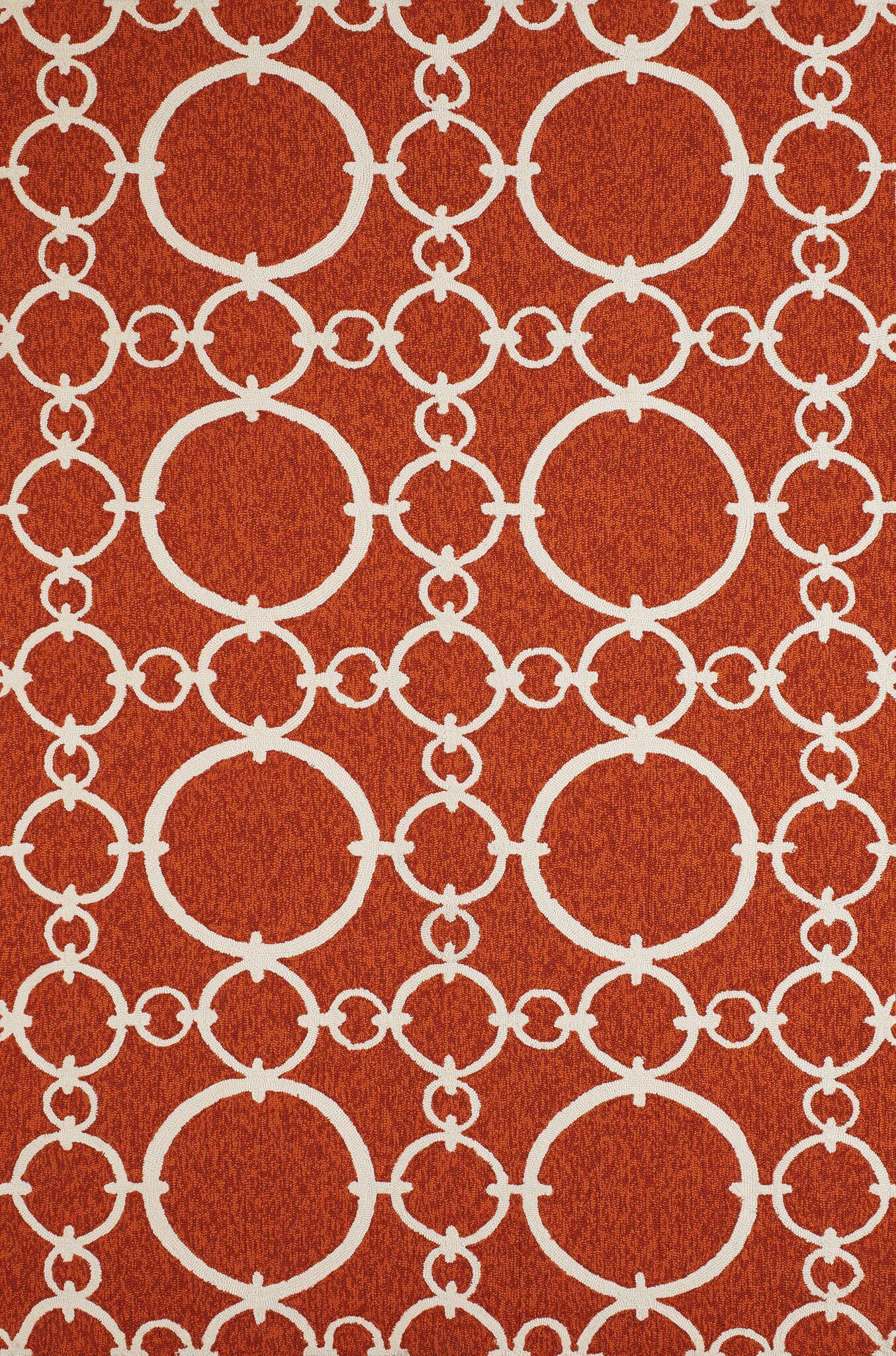 Chainweaver Hand-Woven Terracotta Indoor/Outdoor Area Rug Rug Size: 5' x 7'6