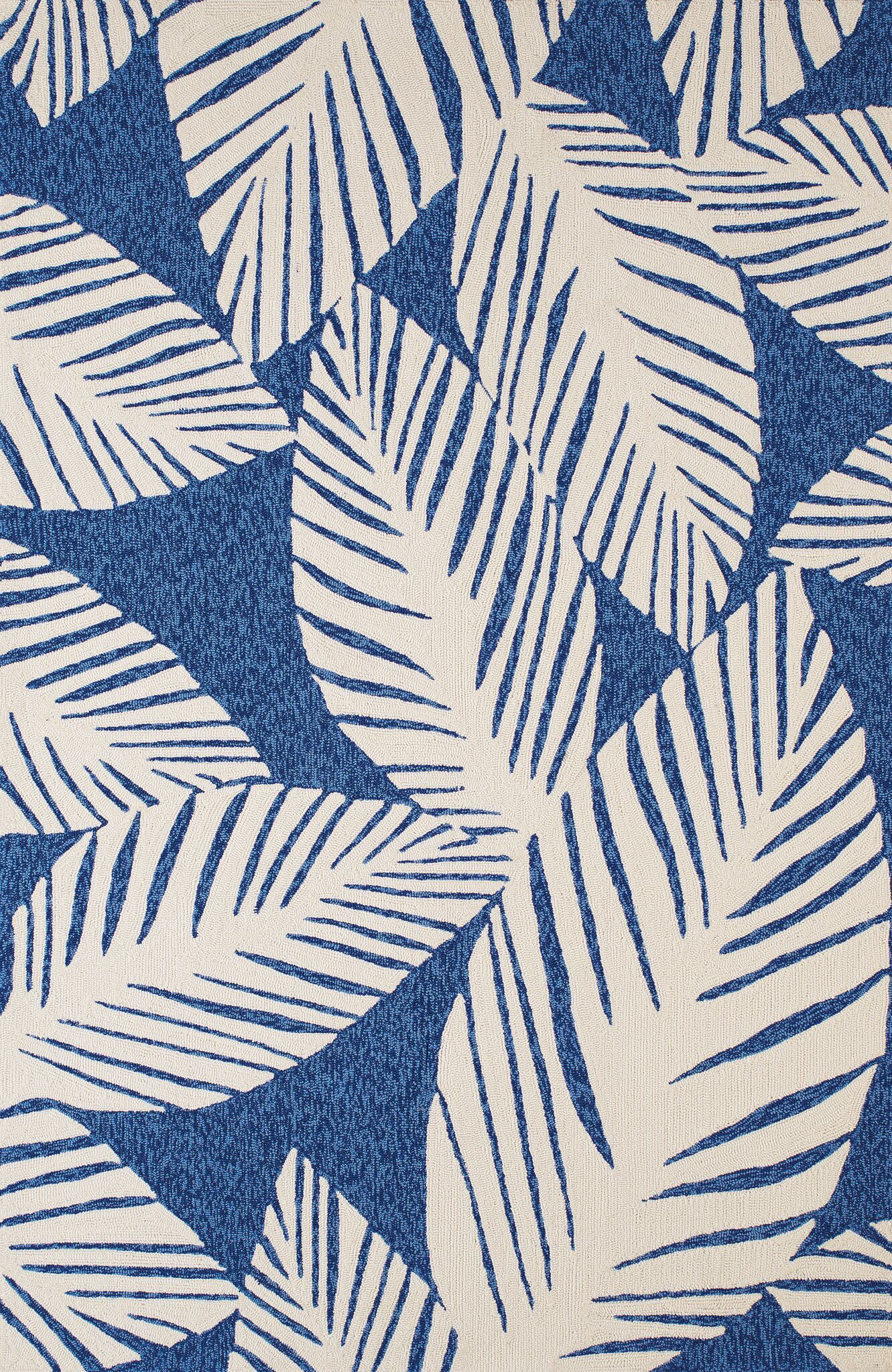 Palm Coast Hand-Woven Blue Indoor/Outdoor Area Rug Rug Size: 5' x 7'6