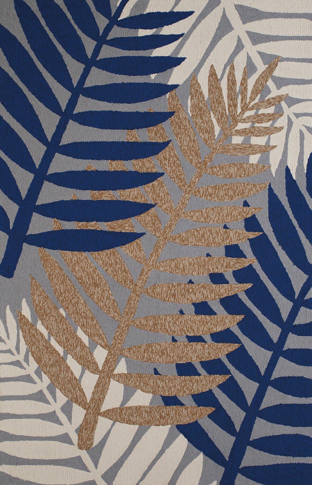 Sunbelt Hand-Woven Gray/Blue Indoor/Outdoor Area Rug Rug Size: 5' x 7'6