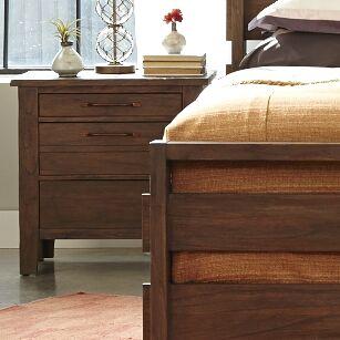Driftwood 3 Drawer Nightstand