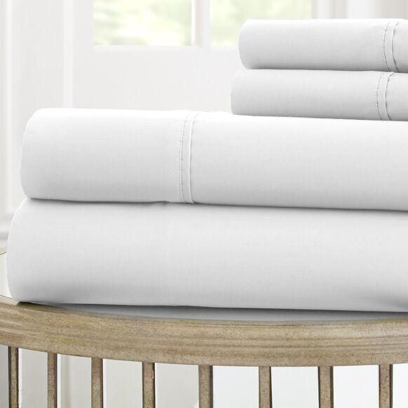 1000 Thread Count 100% Cotton Sheet Set Color: White, Size: King