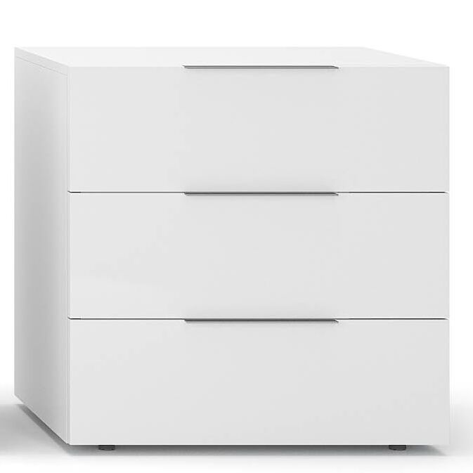 Spazio 3 Drawer Nightstand Color: White High Gloss