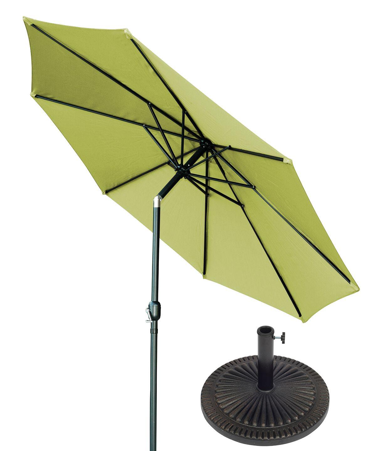 10' Market Umbrella Fabric: Light Green