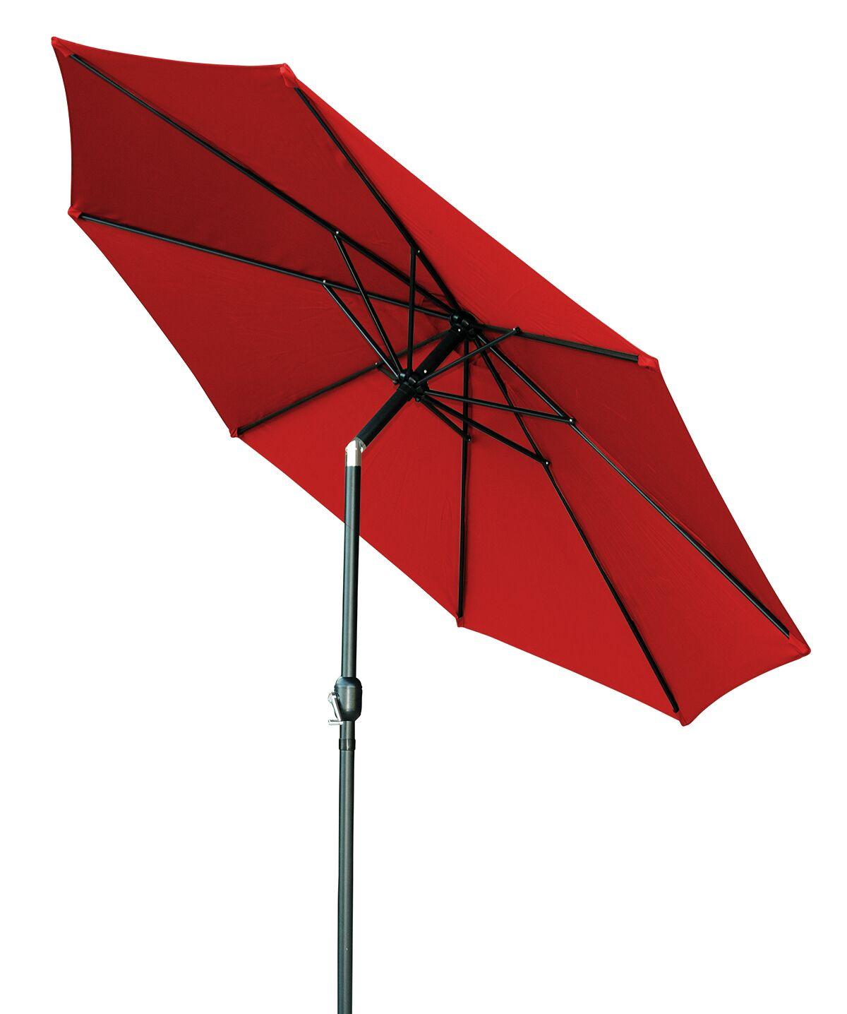 Piatt Tilt Crank Patio 10' Market Umbrella Color: Red