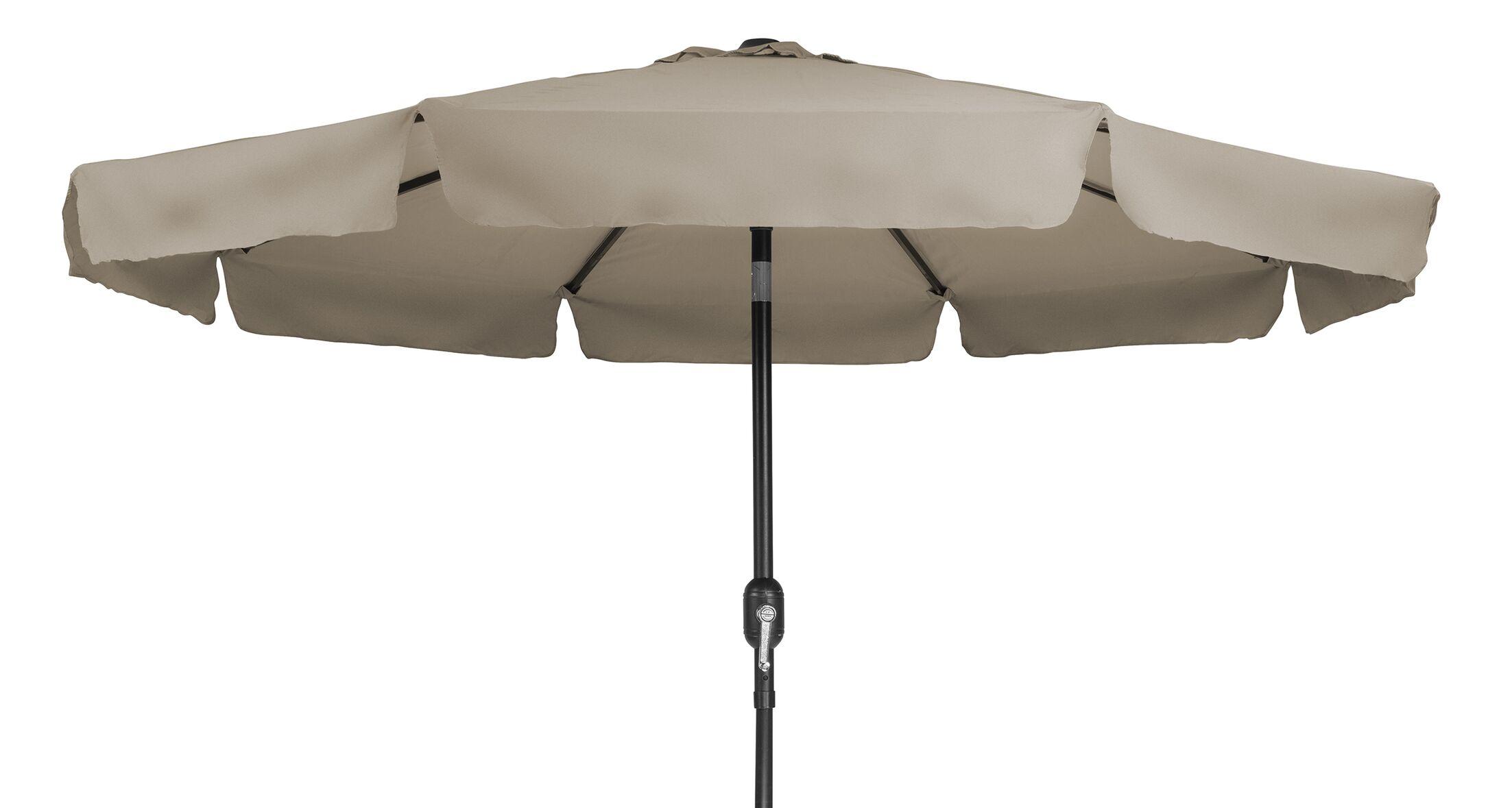 Tilt Crank 9' Drape Umbrella Fabric: Tan