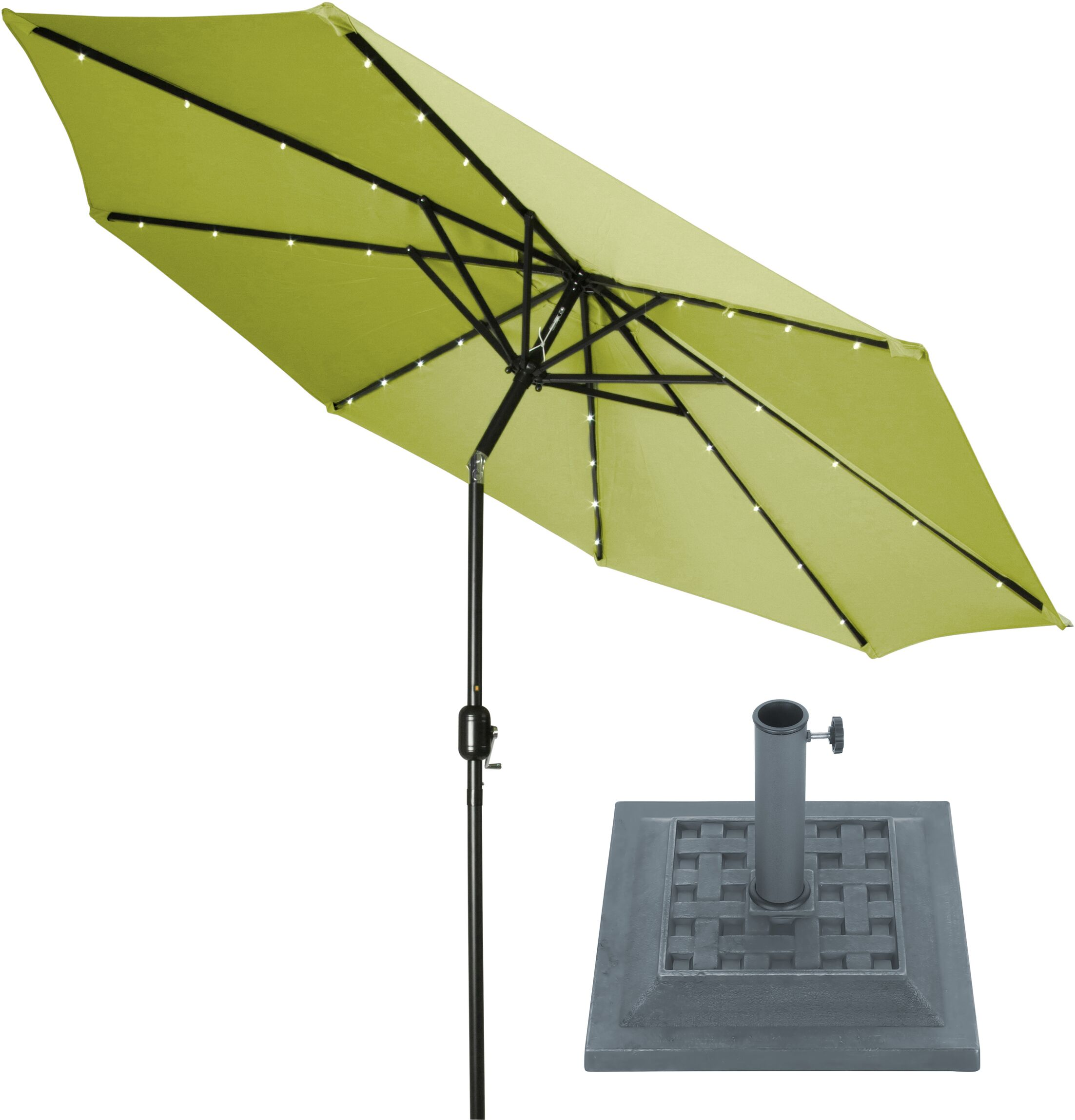 9' Lighted Umbrella Color: Light Green