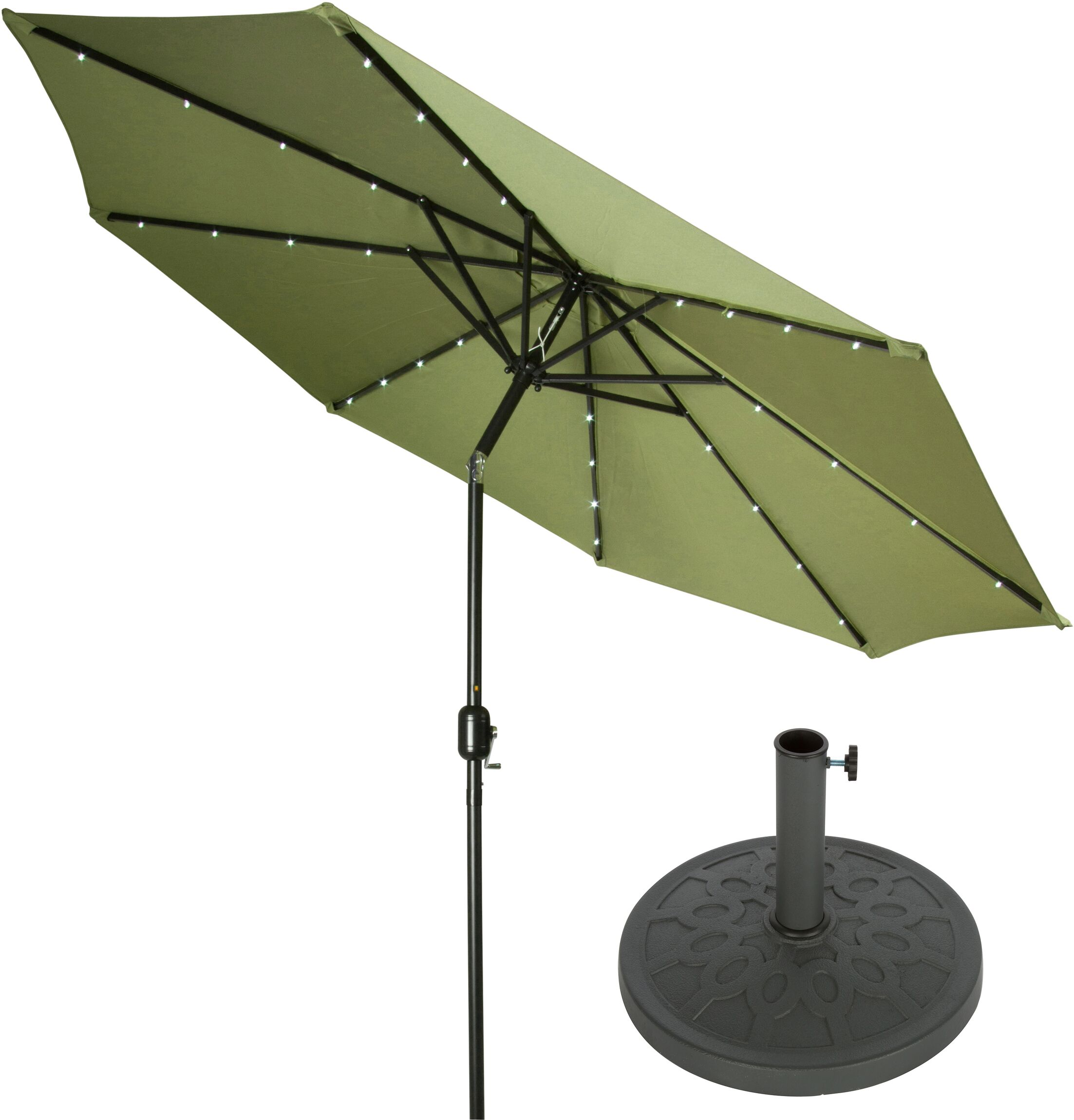 9' Lighted Umbrella Color: Light Green