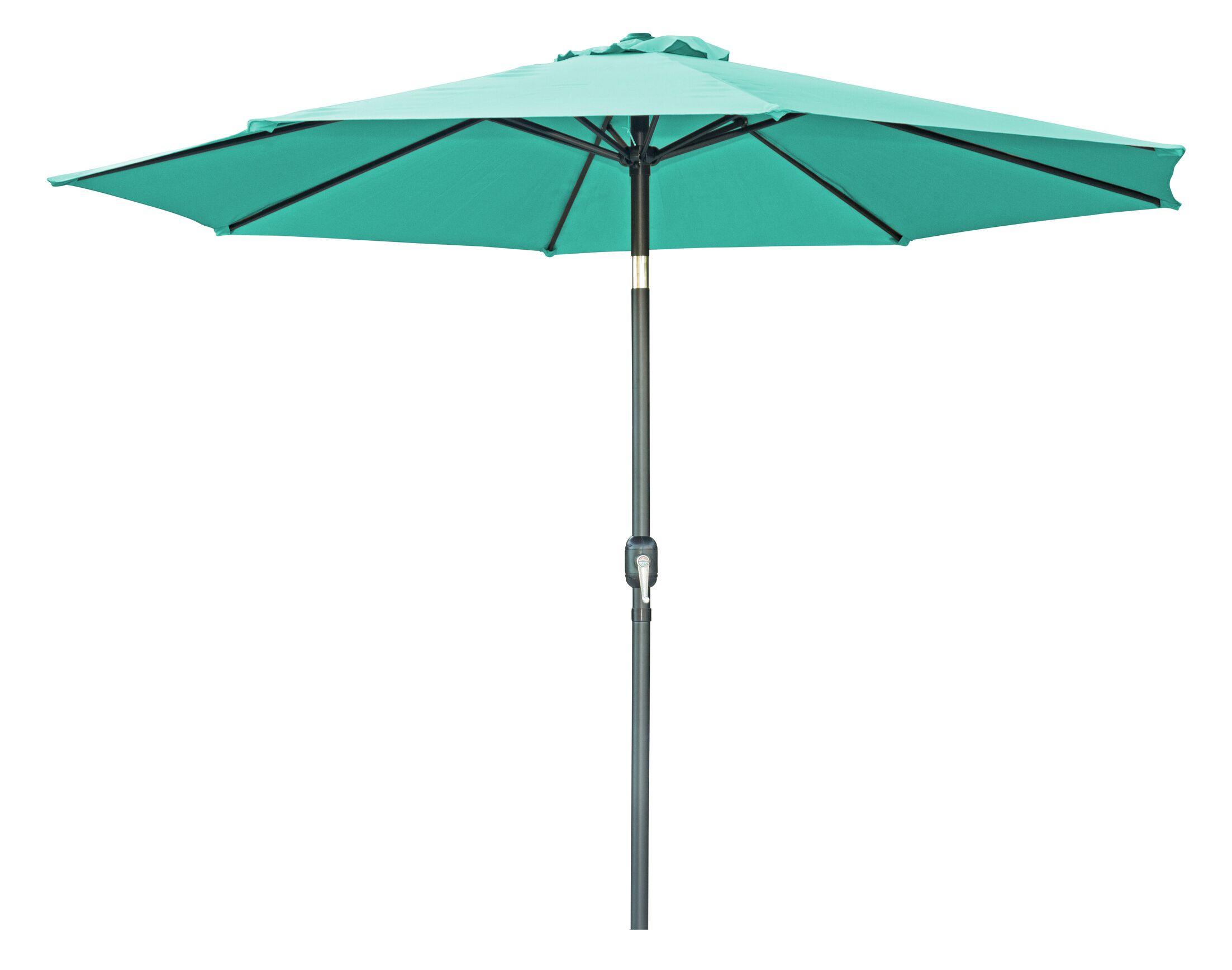 9.5' Market Umbrella Color: Teal