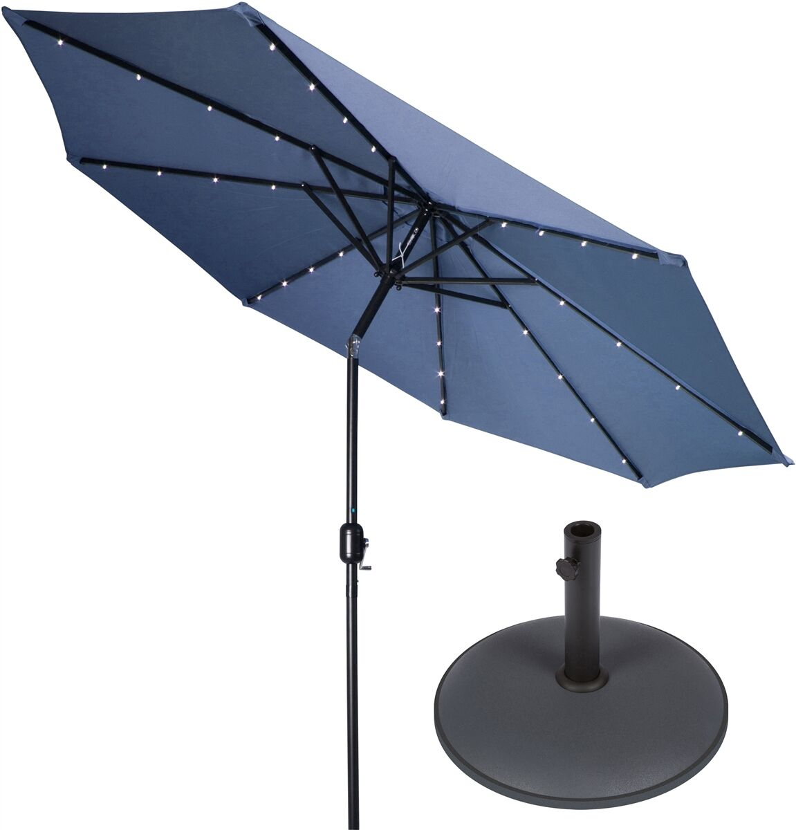 9' Lighted Umbrella Color: Blue