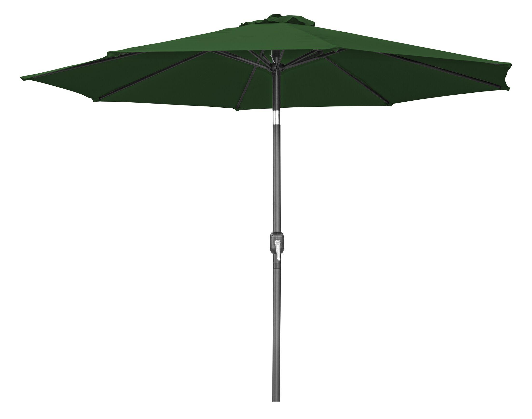 Tilt Crank 10' Market Umbrella Fabric: Dark Green
