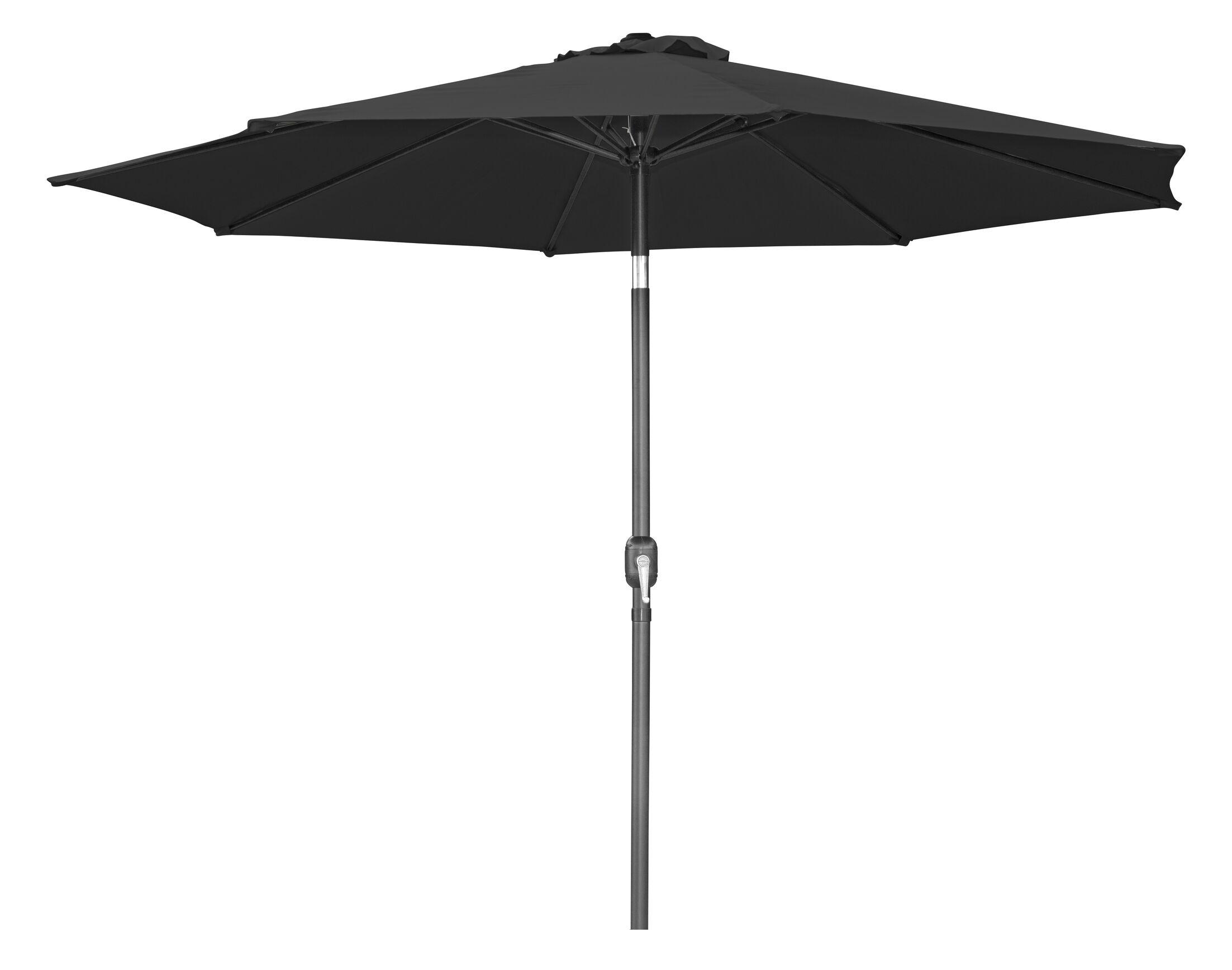 Tilt Crank 10' Market Umbrella Fabric: Black