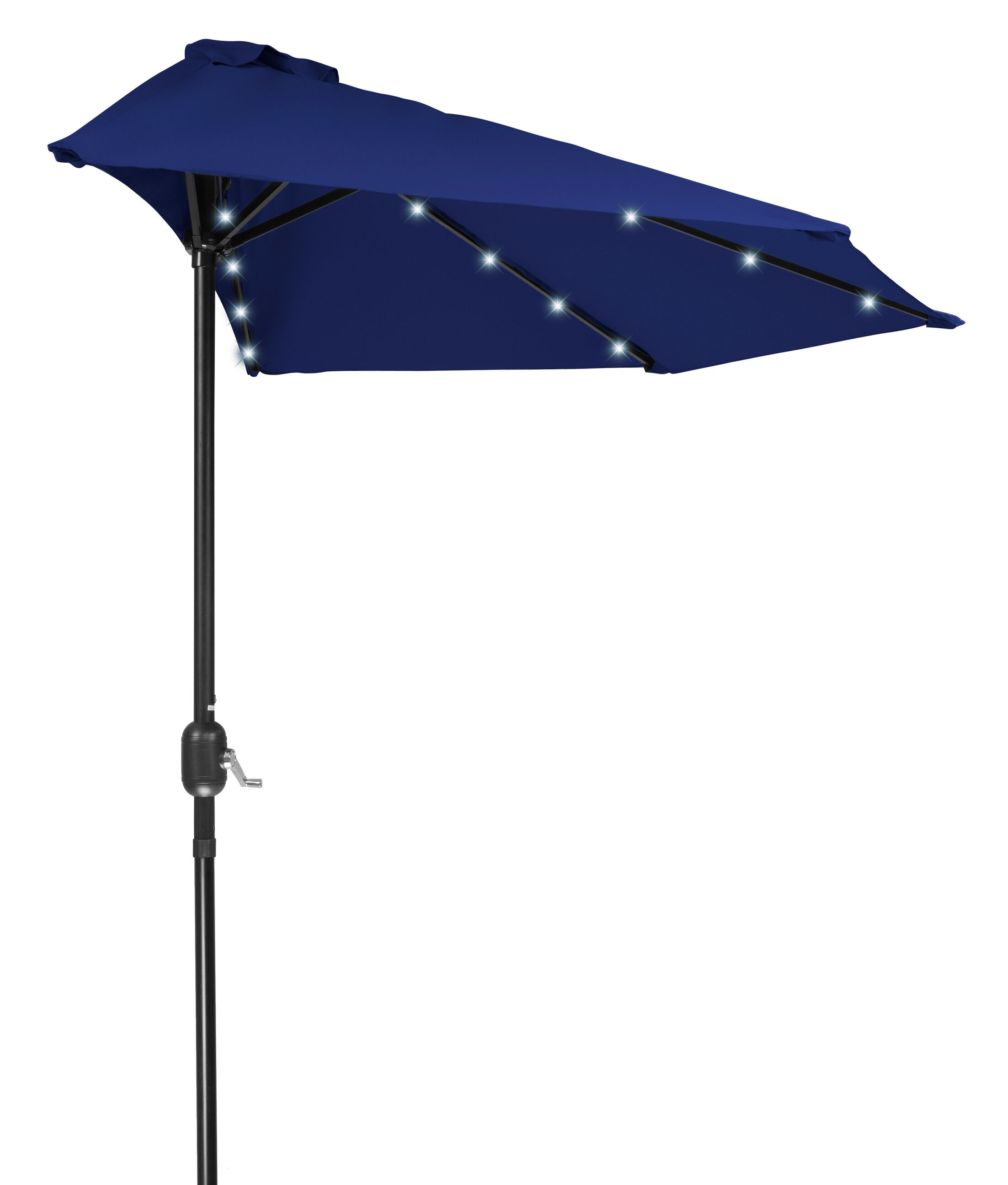 Phipps Patio Half LED Solar Powered 9' Lighted Umbrella