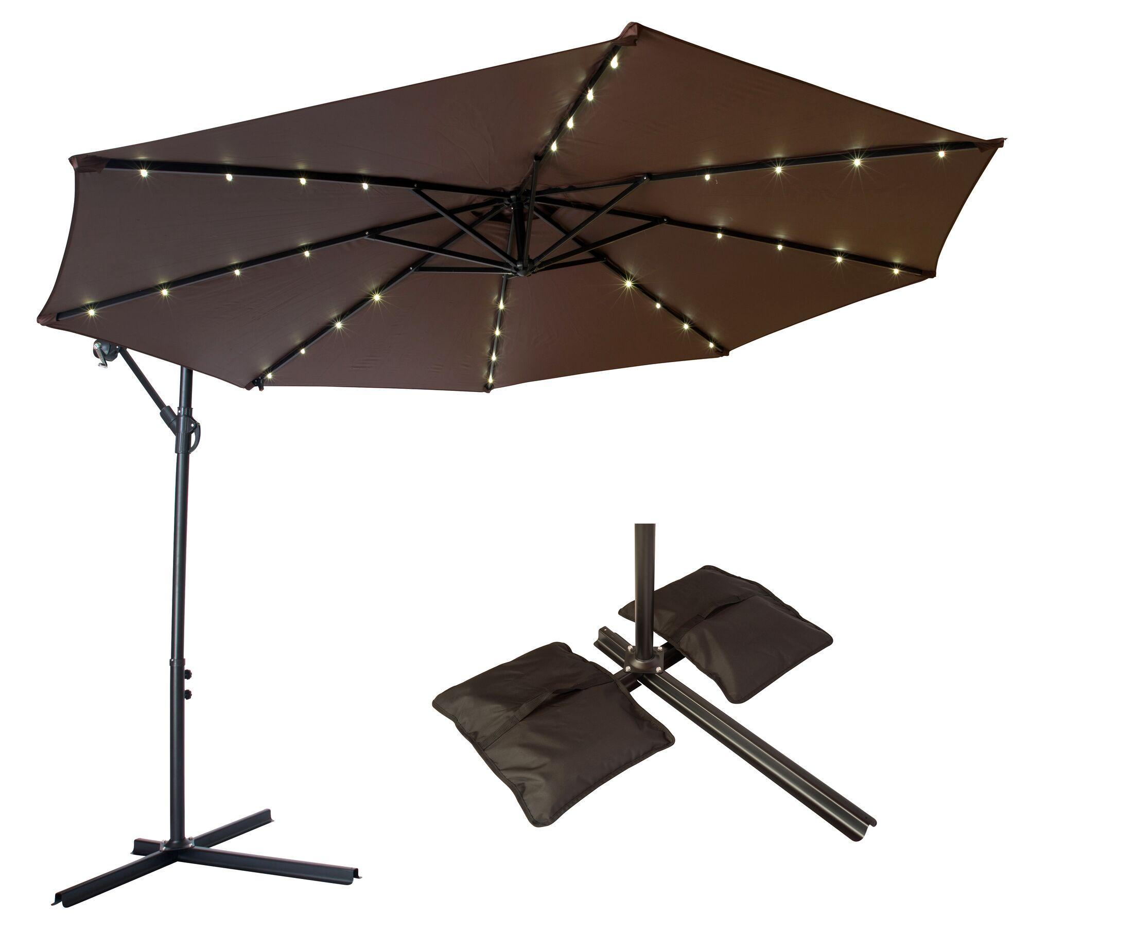 10' Cantilever Umbrella Color: Dark Brown