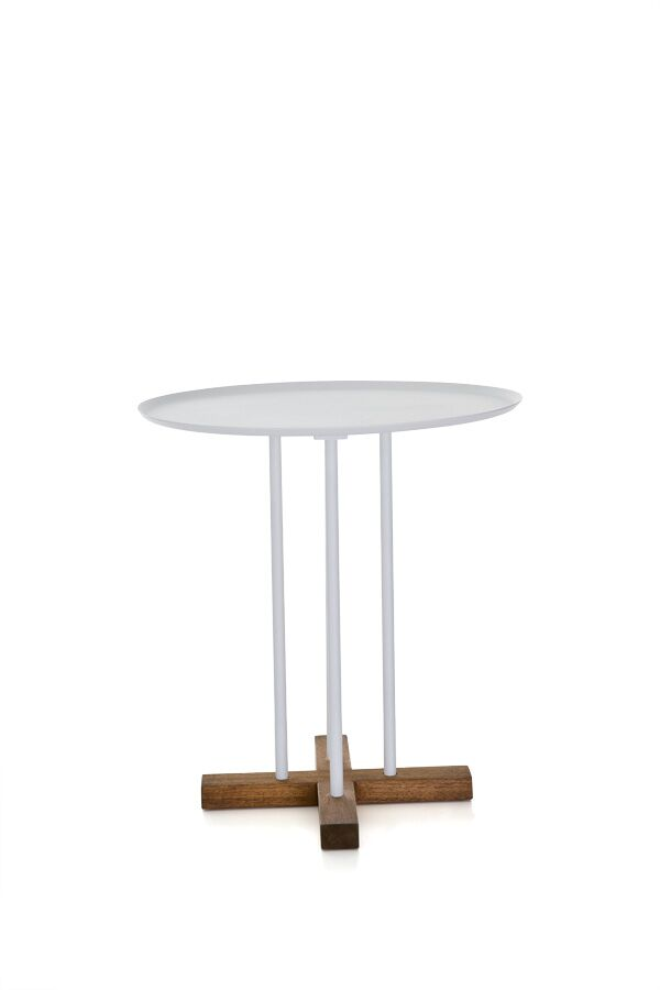 Sini End Table Top Color: White