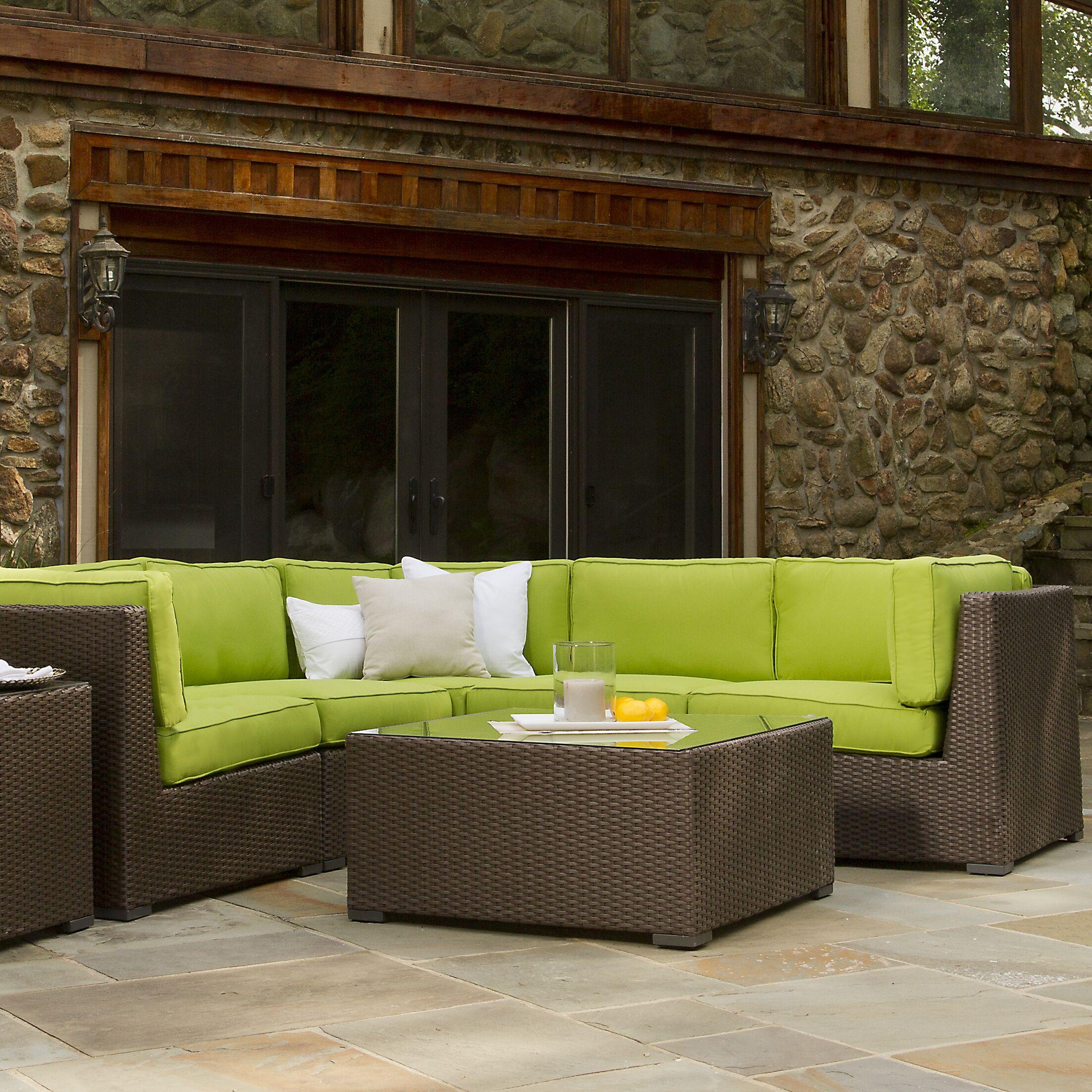 Sonoma Sunbrella Sectional Set with Cushions Color: Sunbrella Antique Beige