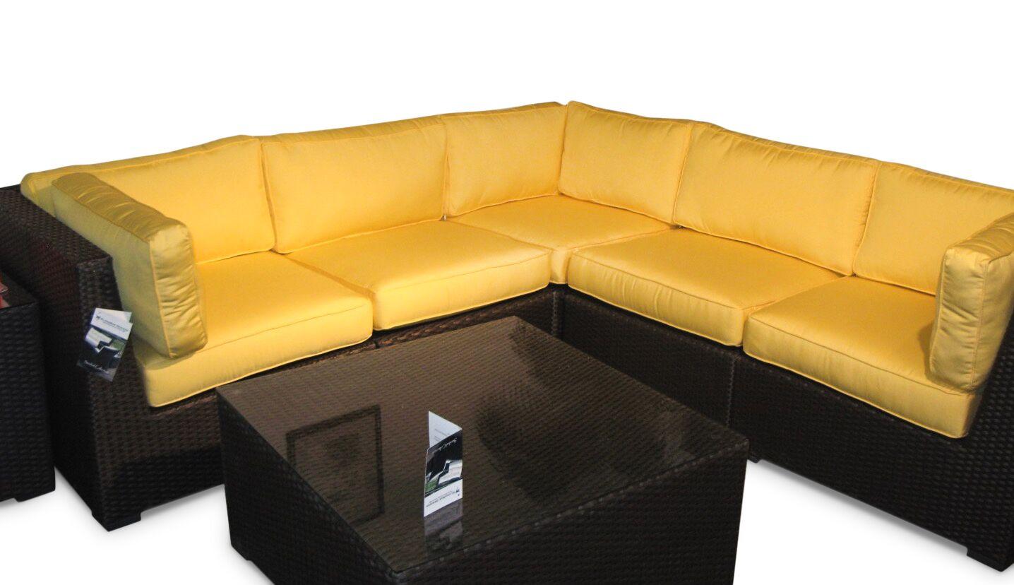 Sonoma Sunbrella Sectional Set with Cushions Color: Sunbrella Buttercup